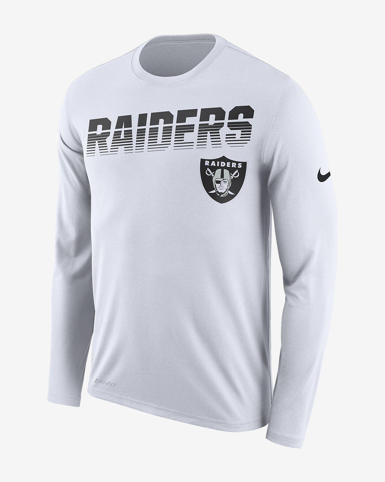 buy online 5bd9d 653f2 Nike Legend (NFL Raiders) Men's Long-Sleeve T-Shirt