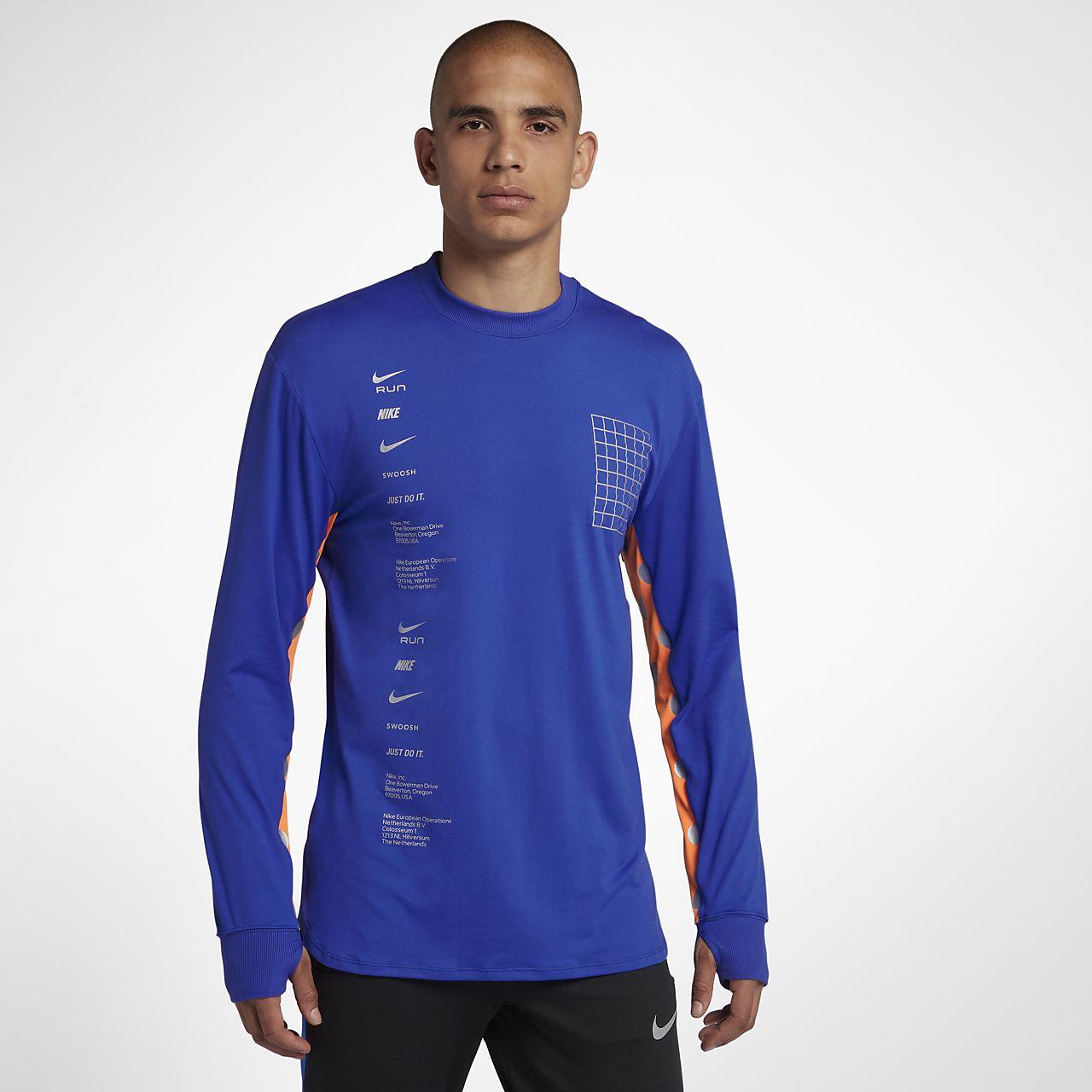 Pánský běžecký top s dlouhým rukávem Nike Dri-FIT