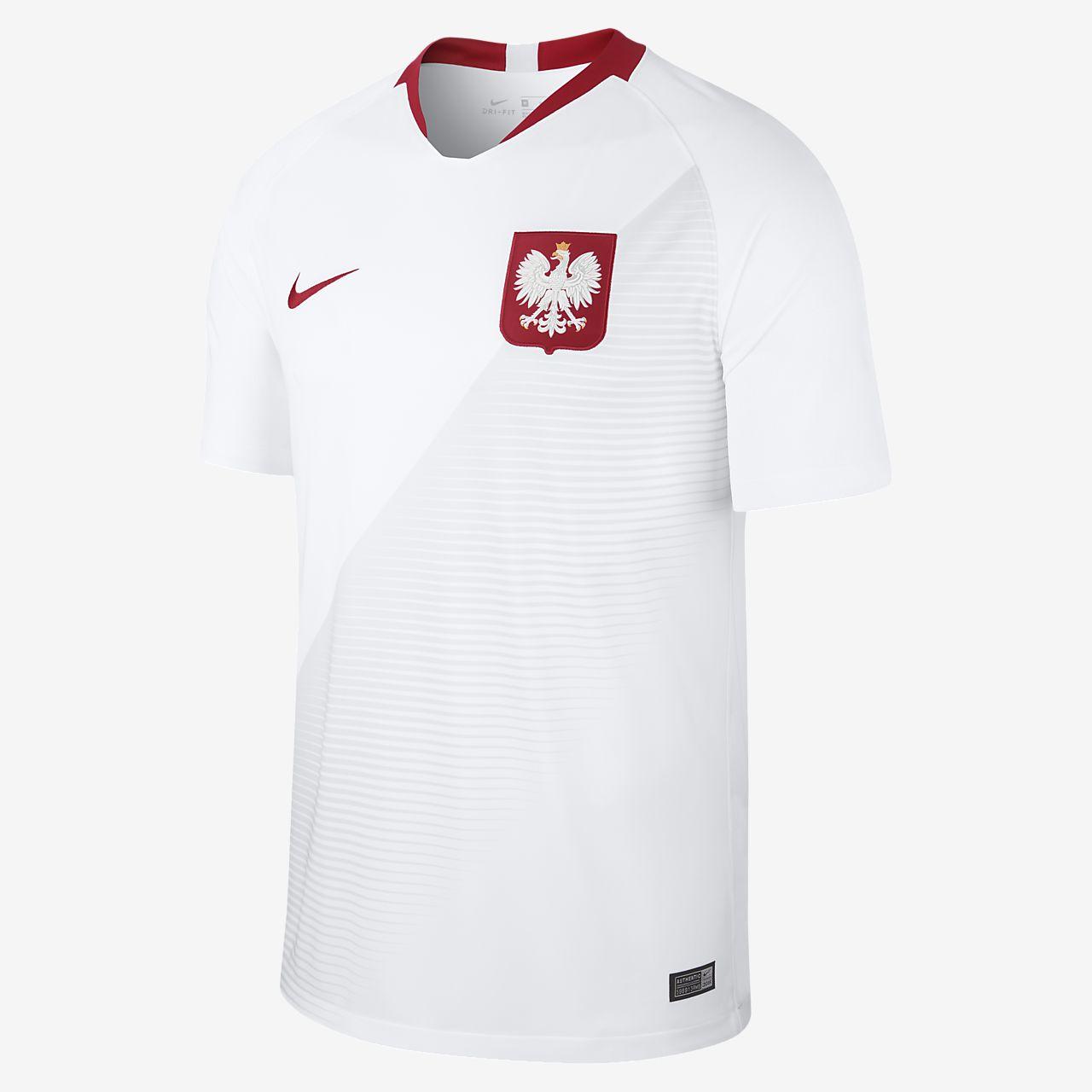 Camiseta de fútbol para hombre 2018 Poland Stadium Home