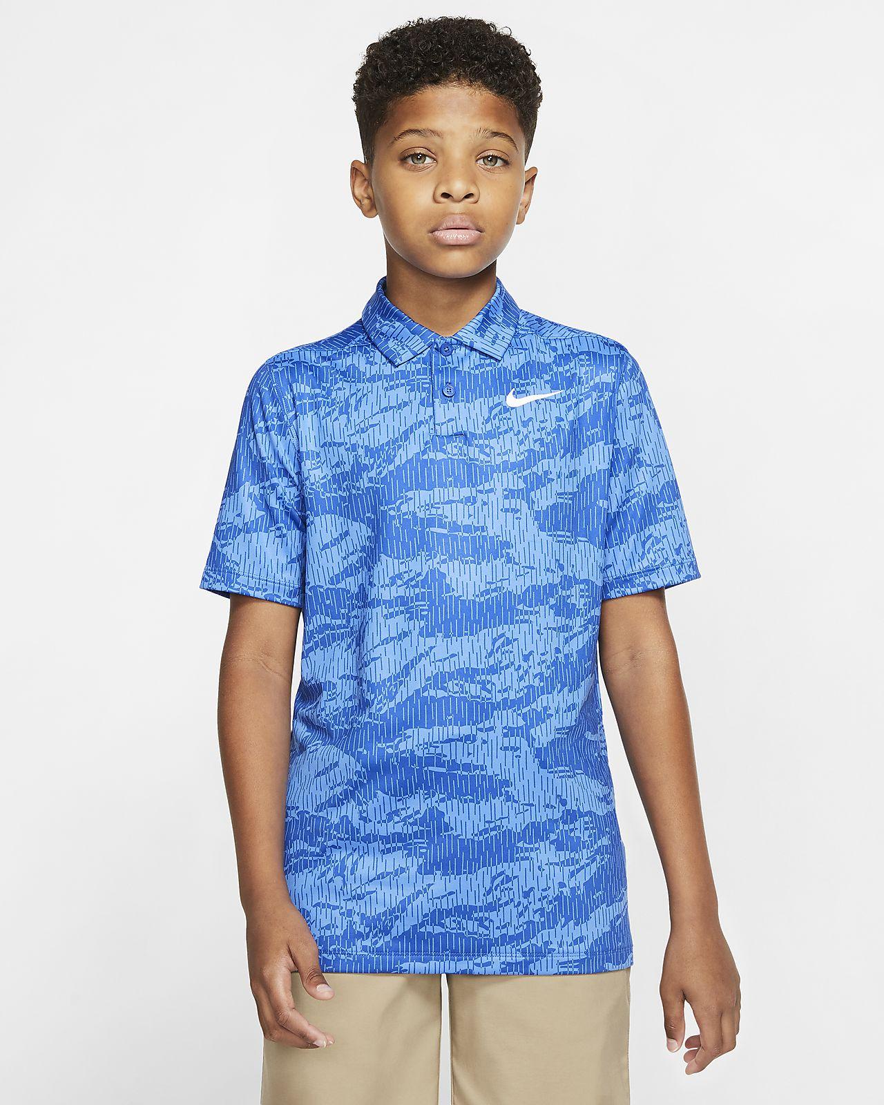 Nike Dri-FIT-golfpolo med print til drenge