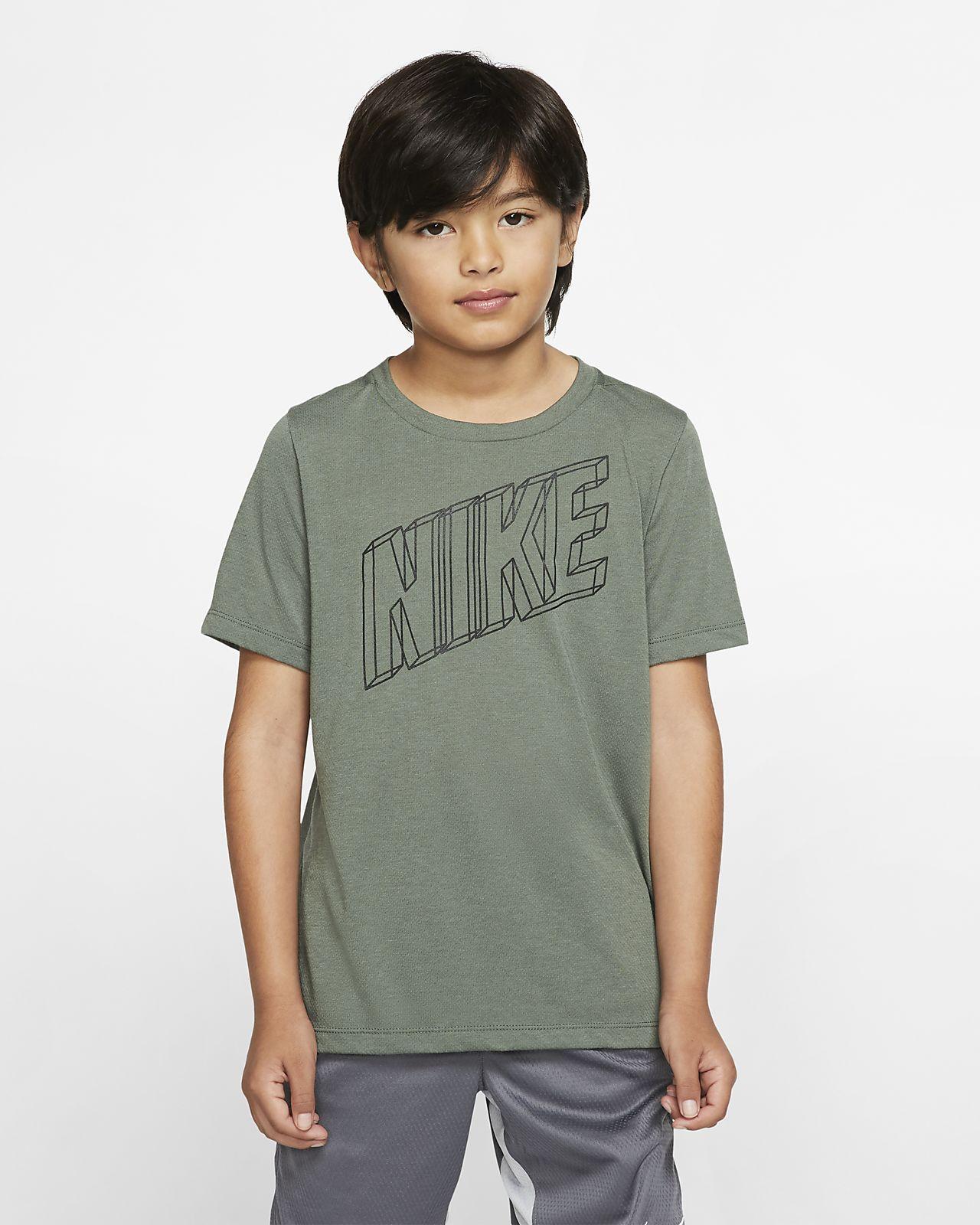 Nike Breathe Kurzarm-Oberteil mit Grafik für ältere Kinder (Jungen)