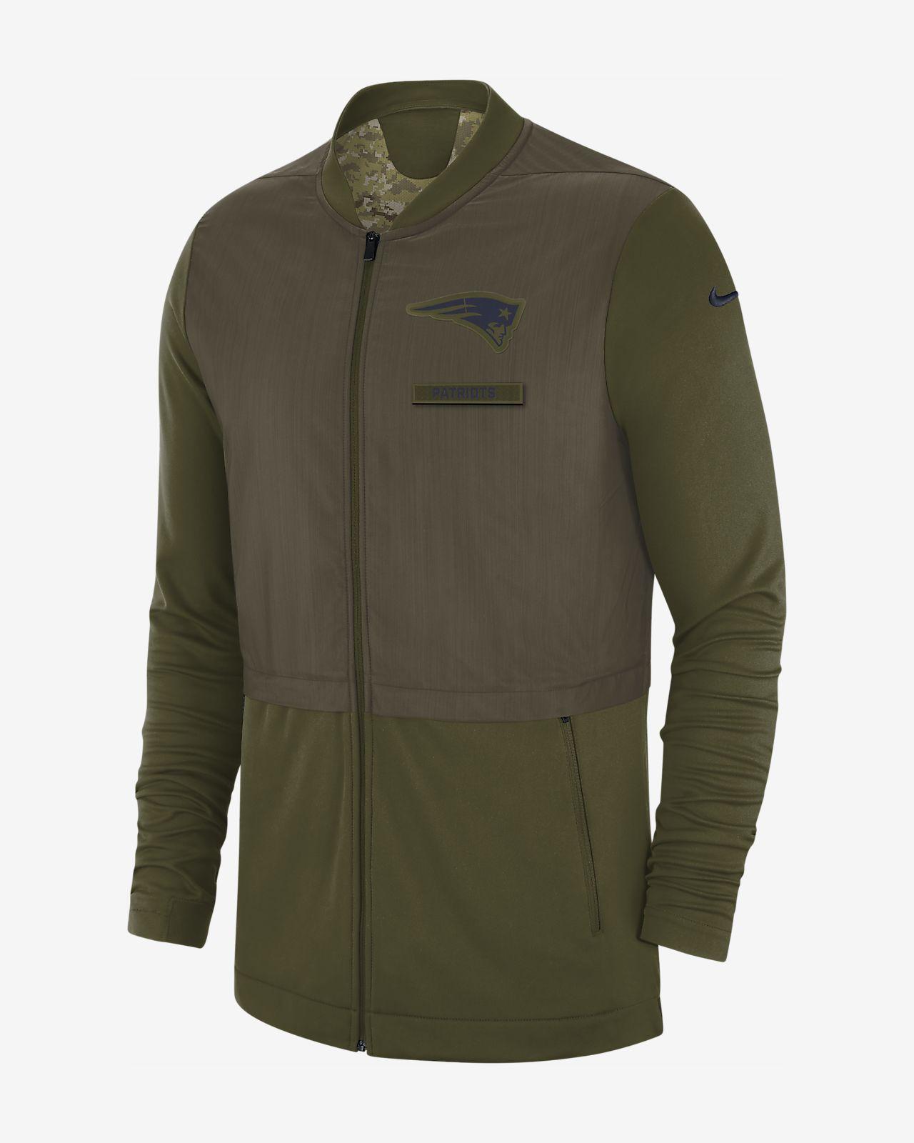 f15b18cf7 Nike Elite Hybrid Salute to Service (NFL Patriots) Men s Full-Zip ...