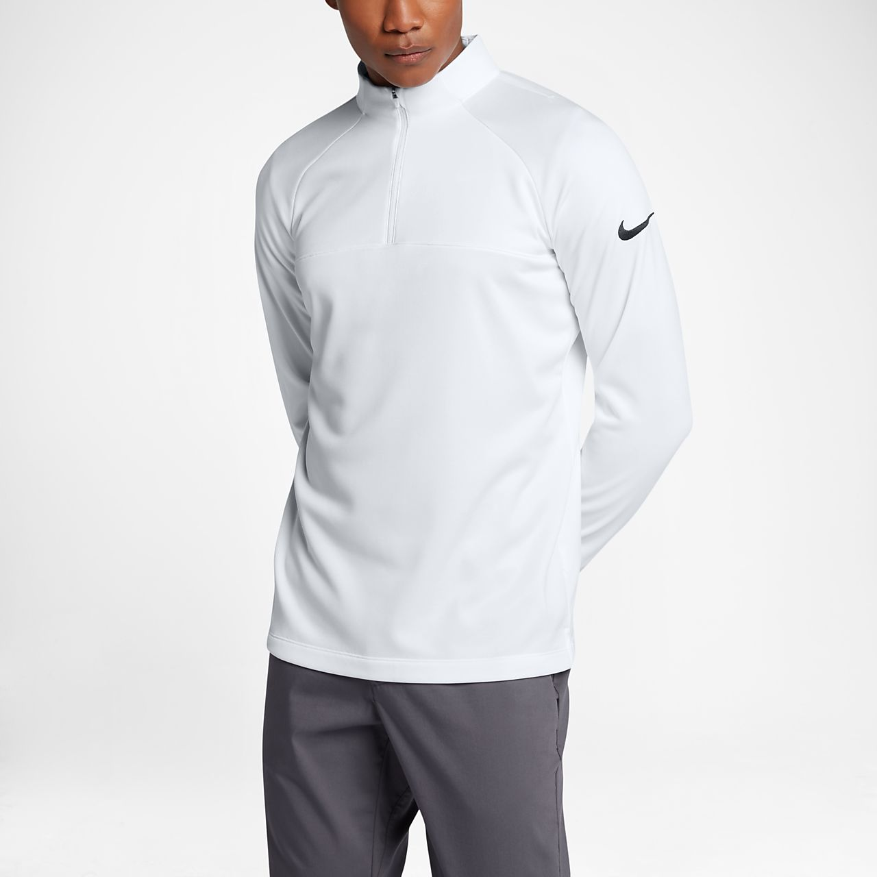 Nike Mens Running Top - Nike AeroReact Half-Zip Wolf Grey U39r2719