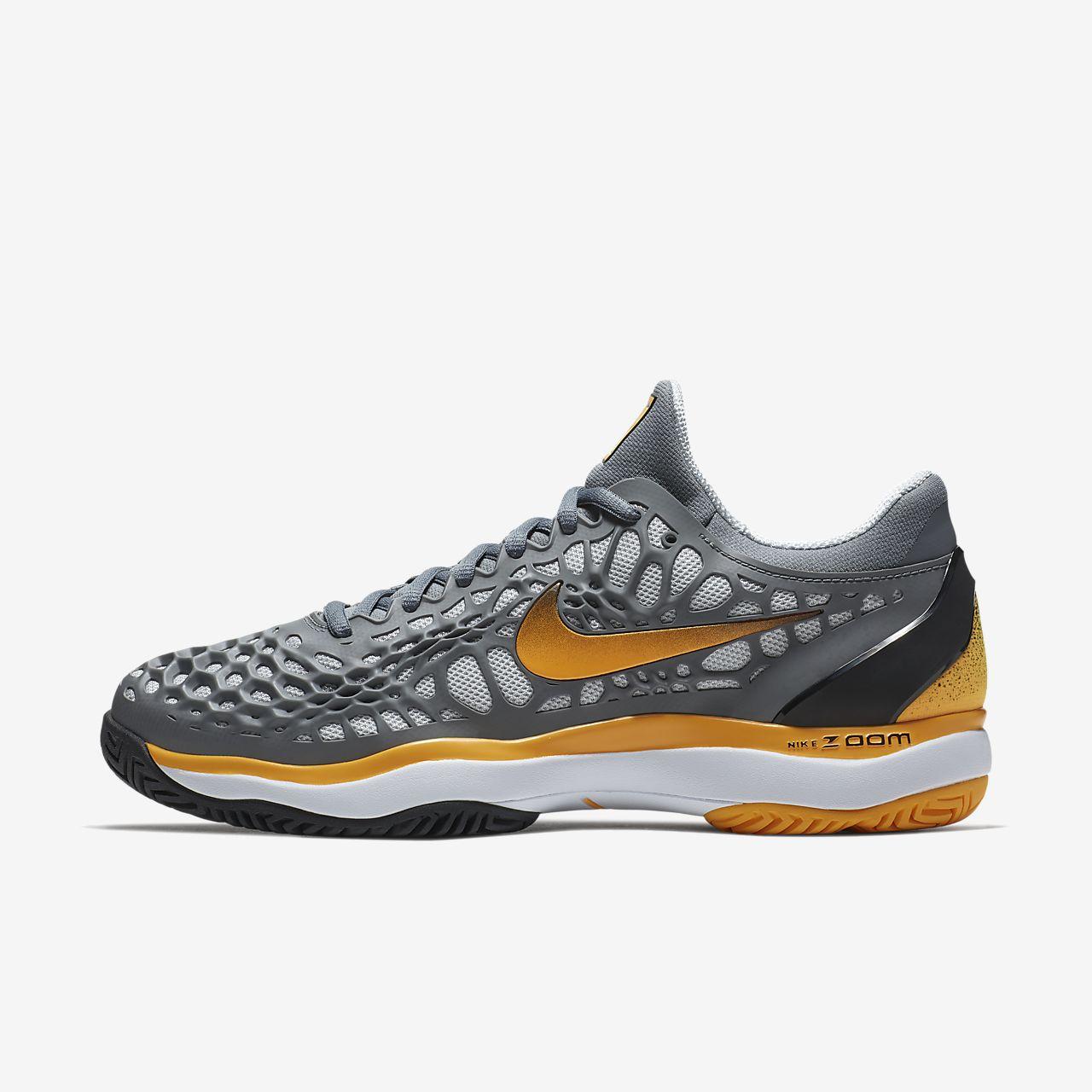 B Nike Hommes Zoom Cage 3 Clay Hommes Nike Chaussure de tennis gris Orange EU 45 2466d4