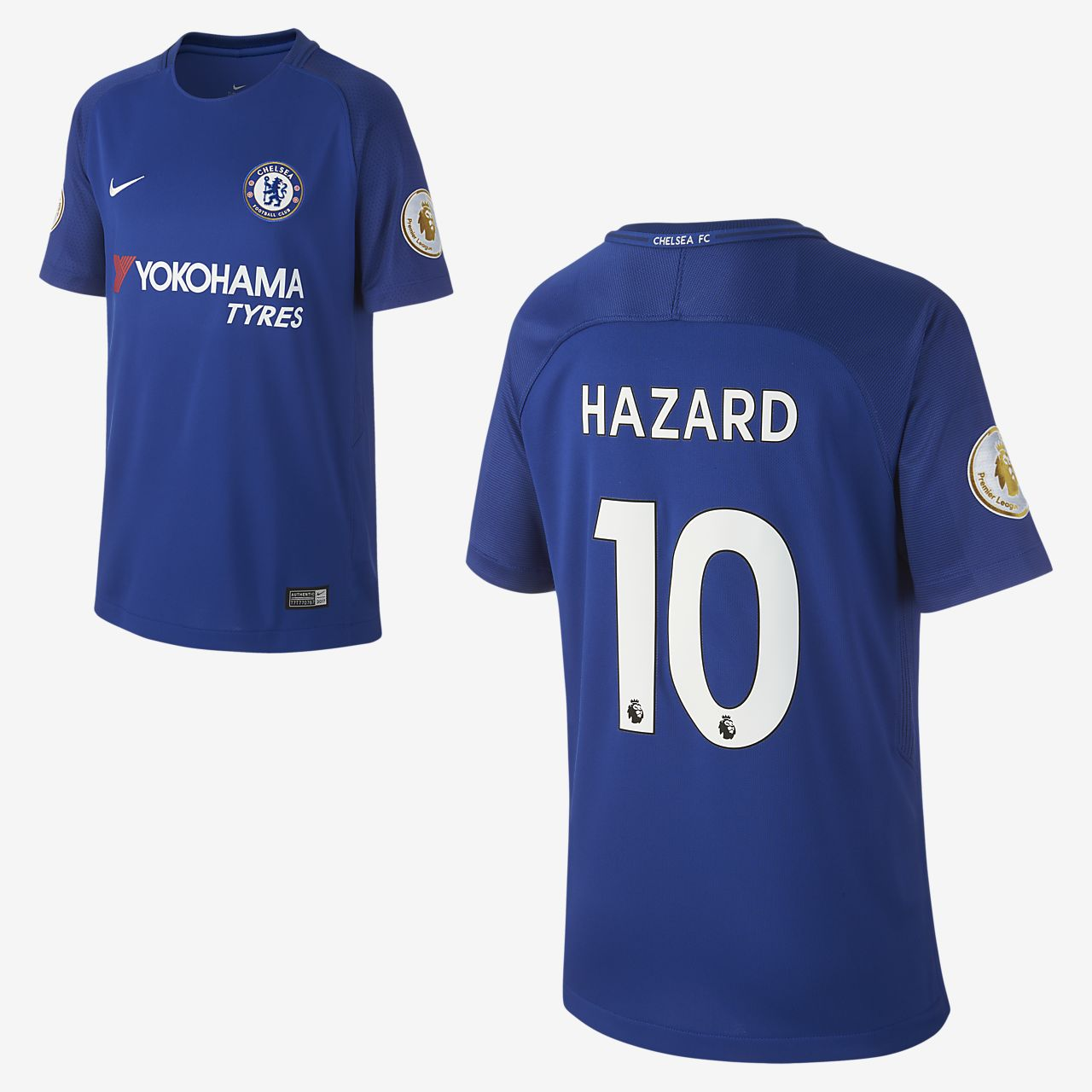 2017/18 Chelsea FC Stadium Home (Eden Hazard) fotballdrakt for store barn