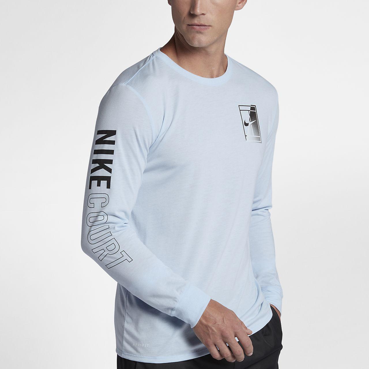 ... NikeCourt Dry Men's Long-Sleeve Tennis T-Shirt