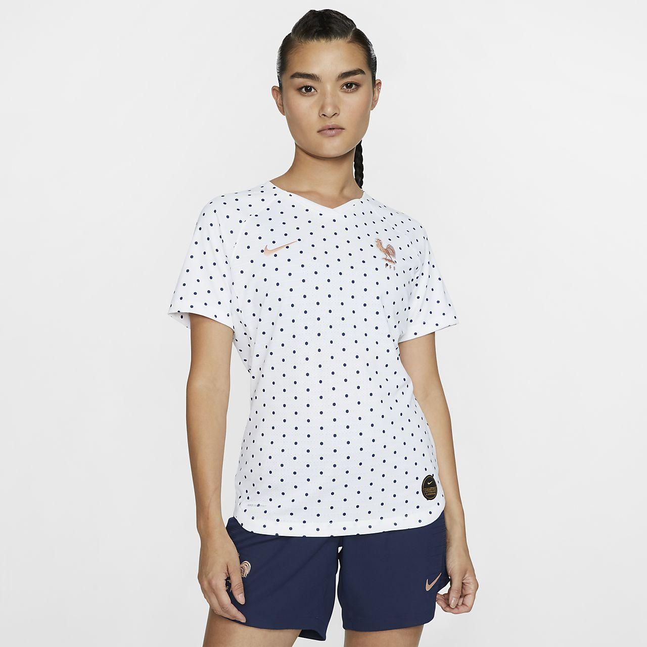 Camiseta de fútbol para mujer FFF 2019 Vapor Match Away