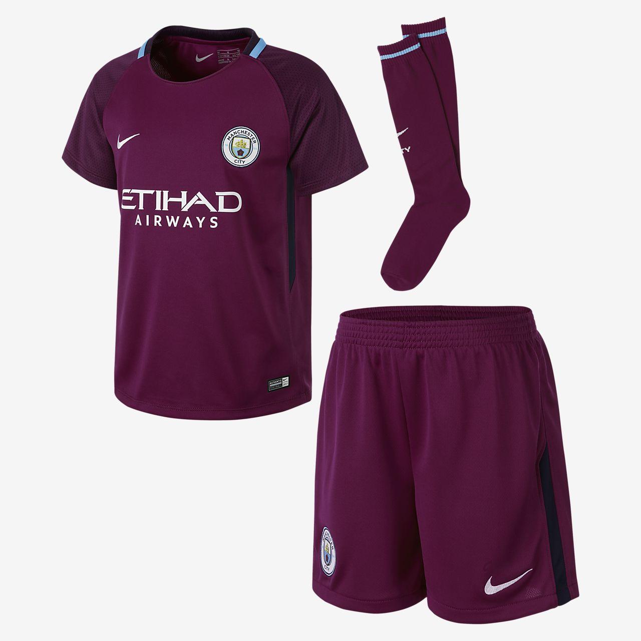 ... 2017/18 Manchester City FC Stadium Away Younger Kids' Football Kit