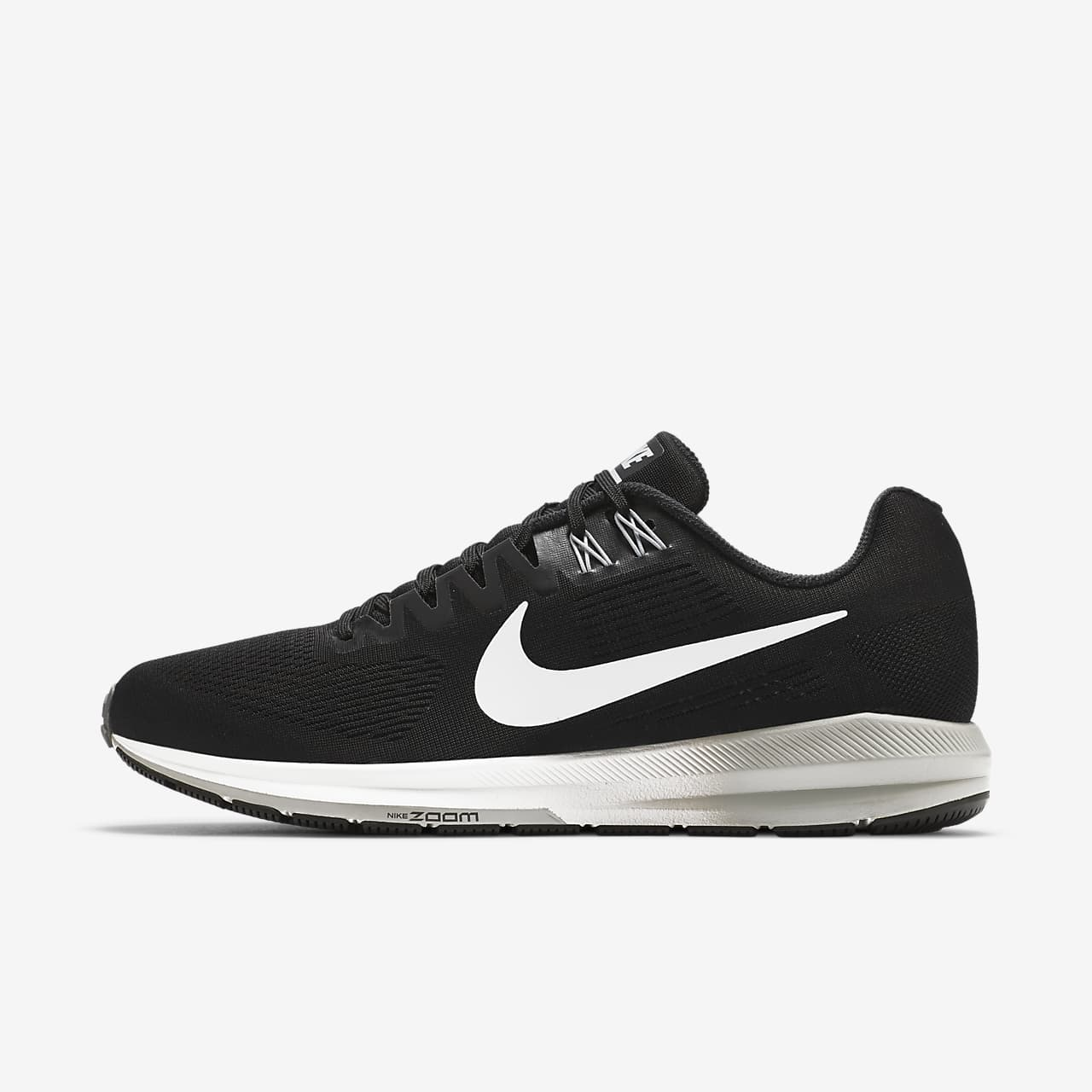 Nike Performance AIR ZOOM STRUCTURE 21 - Stabilty running shoes - black/wolf grey/cool grey/white NZ3NTSCev