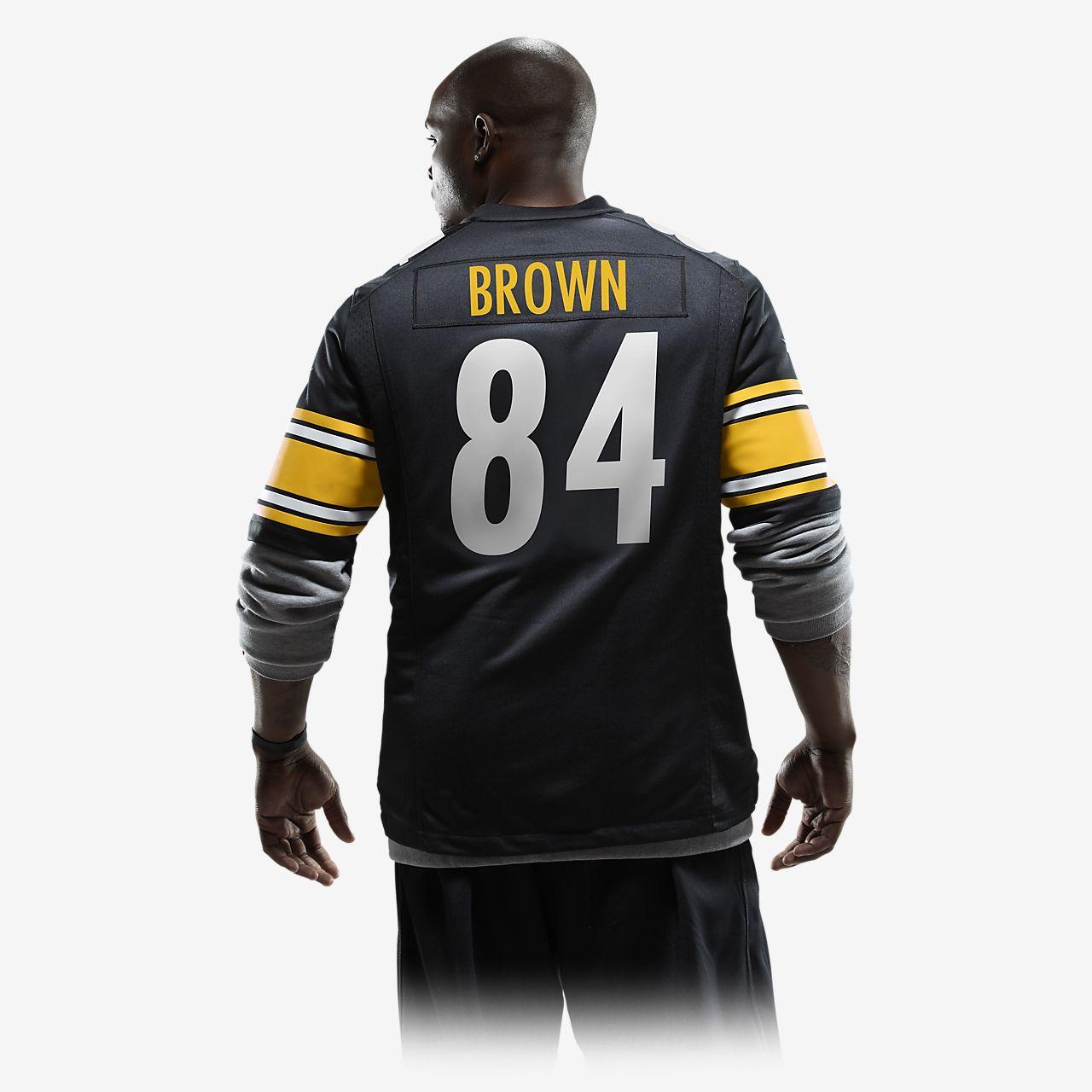 Pittsburgh Maillot BrownPour Football De Steelersantonio Américain Domicile Nfl Homme 9DH2EI