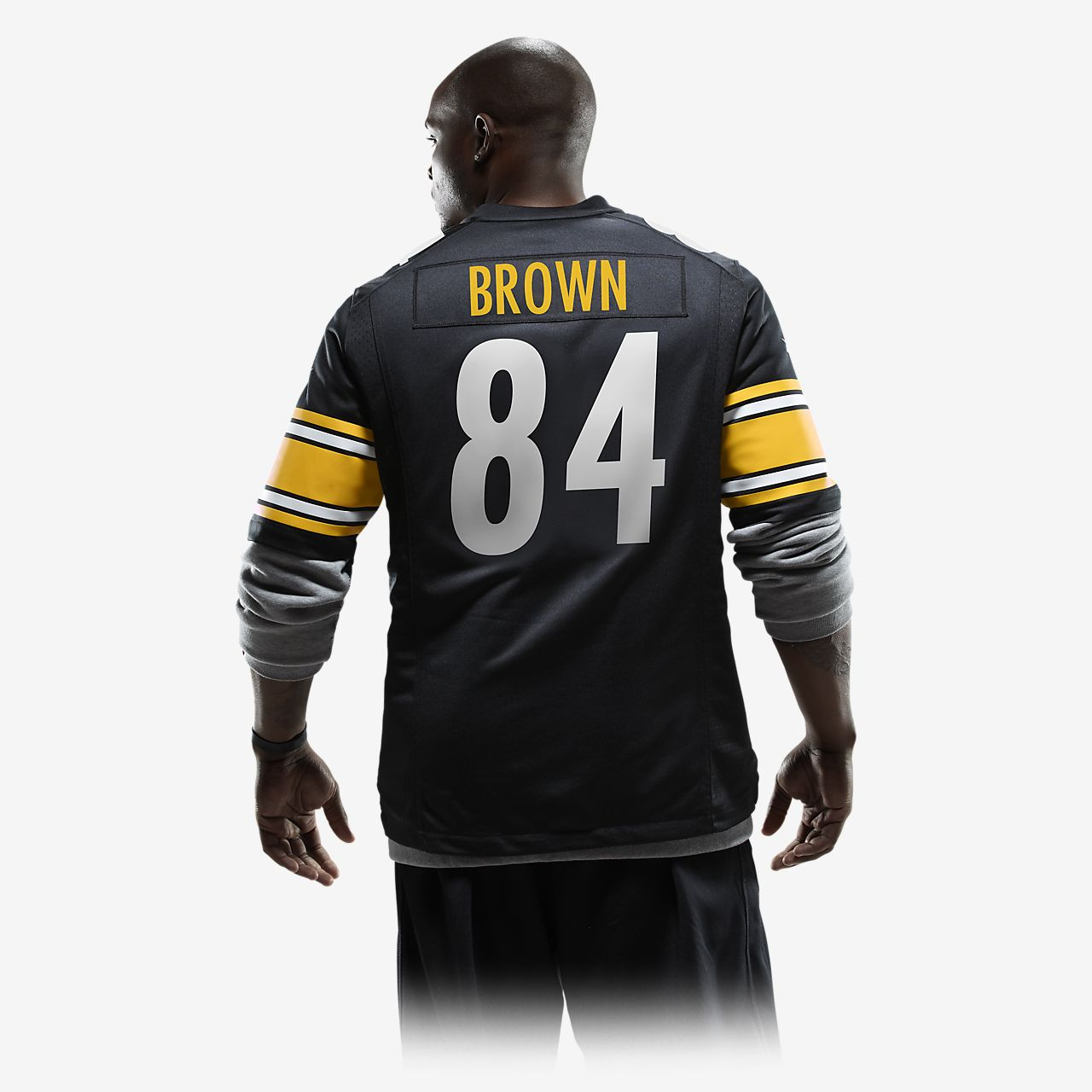 best service e99c4 c9826 NFL Pittsburgh Steelers (Antonio Brown) Men's American Football Home Game  Jersey