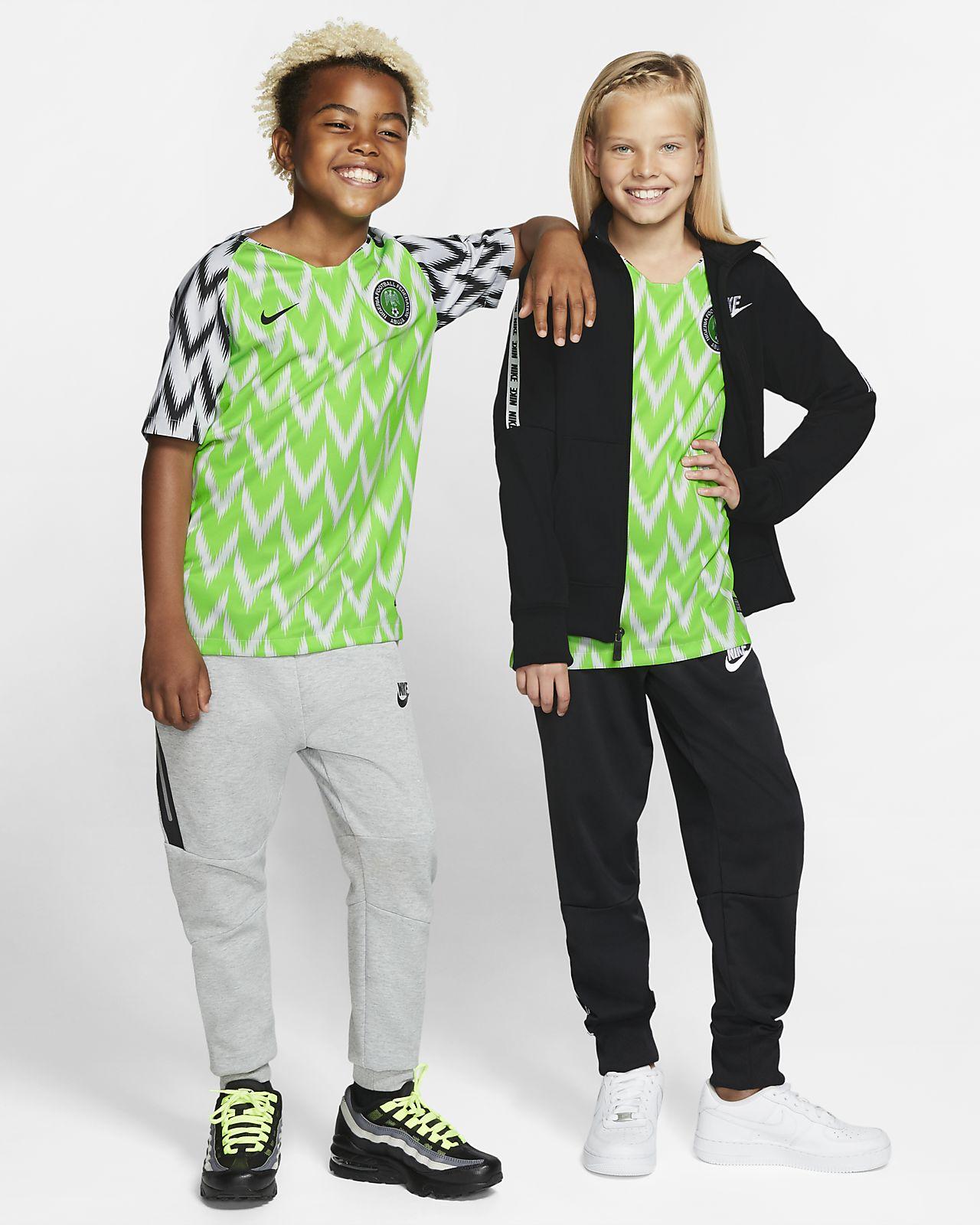 Camisola de futebol Nigeria 2019 Stadium Home para criança