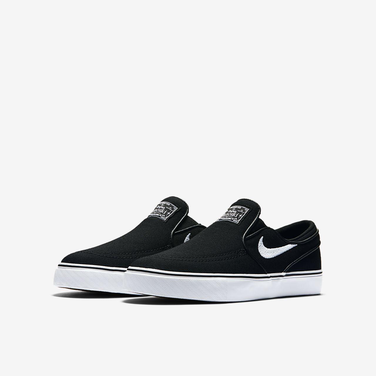 Nike SB Stefan Janoski Canvas Slip-on Big Kids  Skateboarding Shoe ... b2358a06b