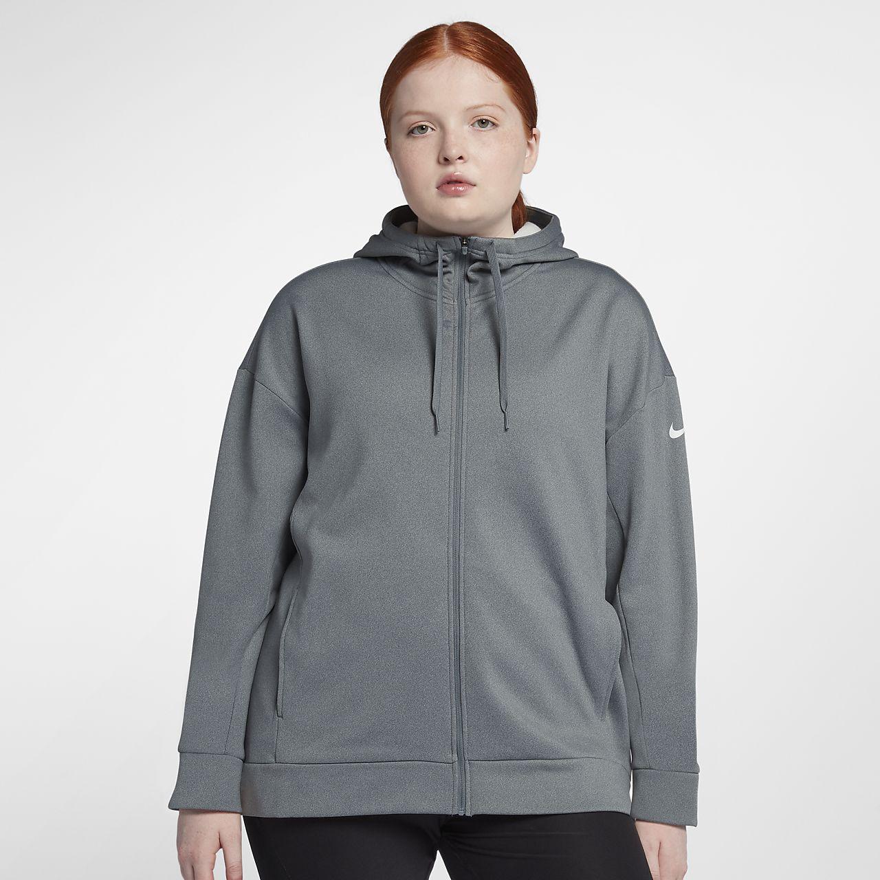 Nike Dri-FIT Therma Women's Full-Zip Training Hoodie (Plus Size)