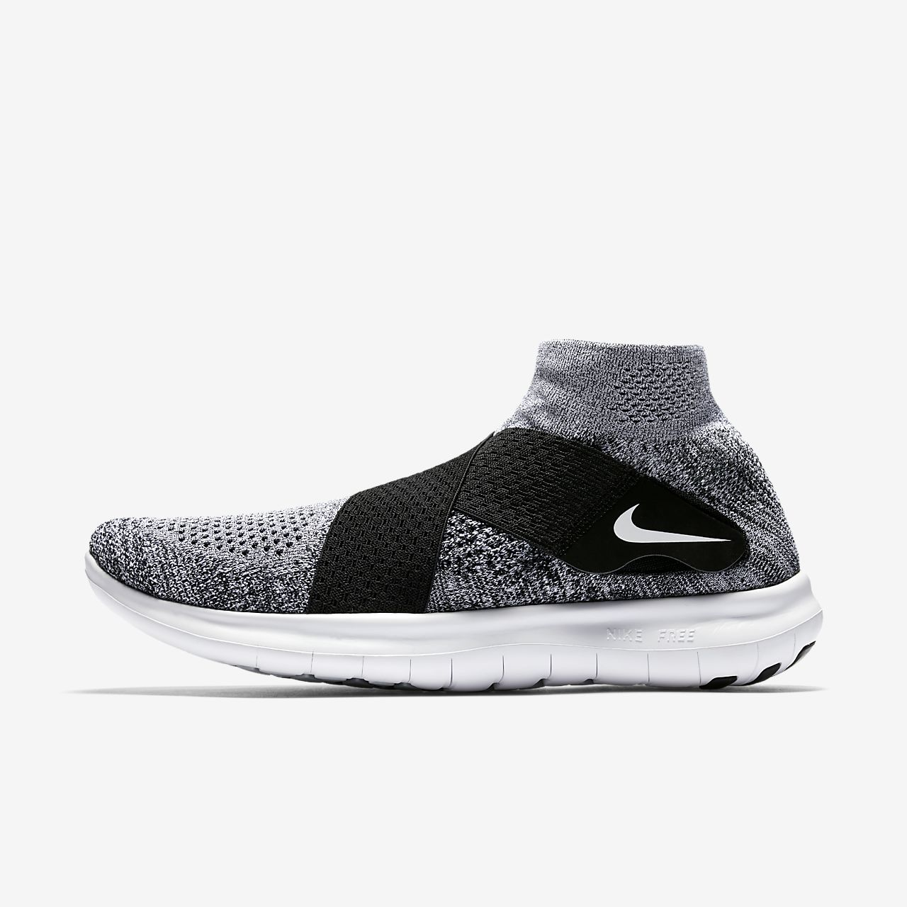 Nike Free RN Motion Flyknit 2017 Mens 880845-001 Black Wolf Grey Shoes Size 15