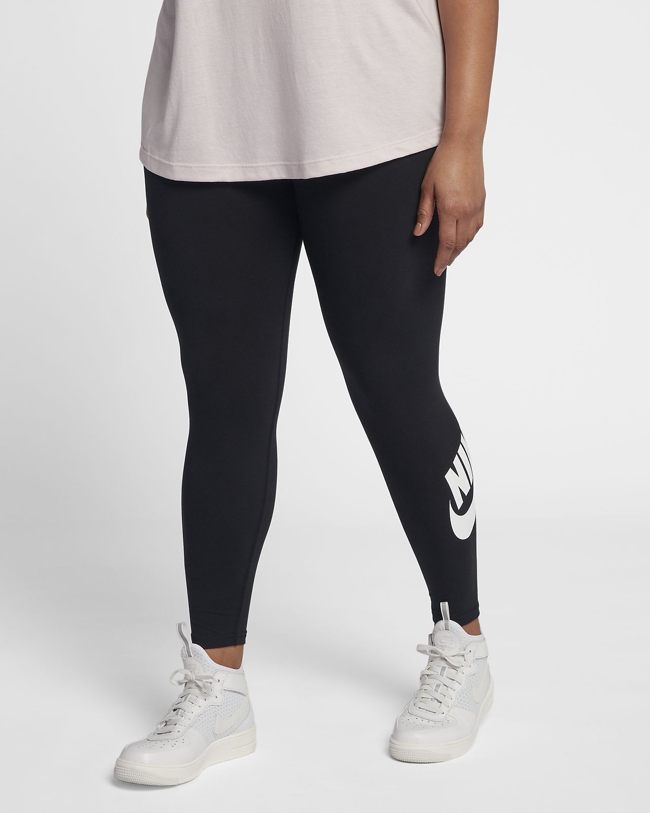 Plus Leg-A-See High Waisted Leggings In Black - Black Nike z6gmIS5fl