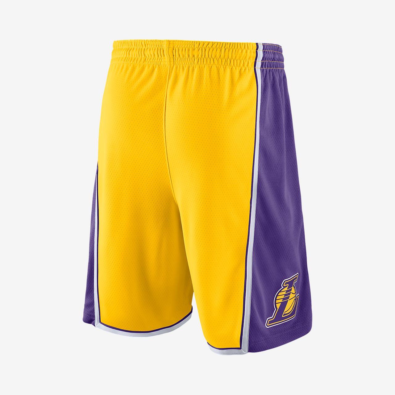 daec86704ce Los Angeles Lakers Nike Icon Edition Swingman Men s NBA Shorts. Nike ...
