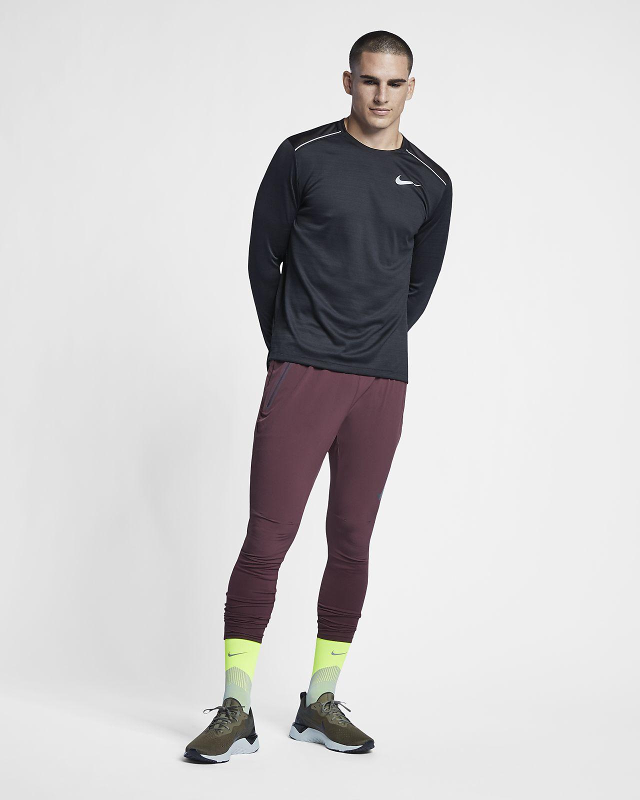 Camisola de running de manga comprida Nike Dri FIT Miler para homem