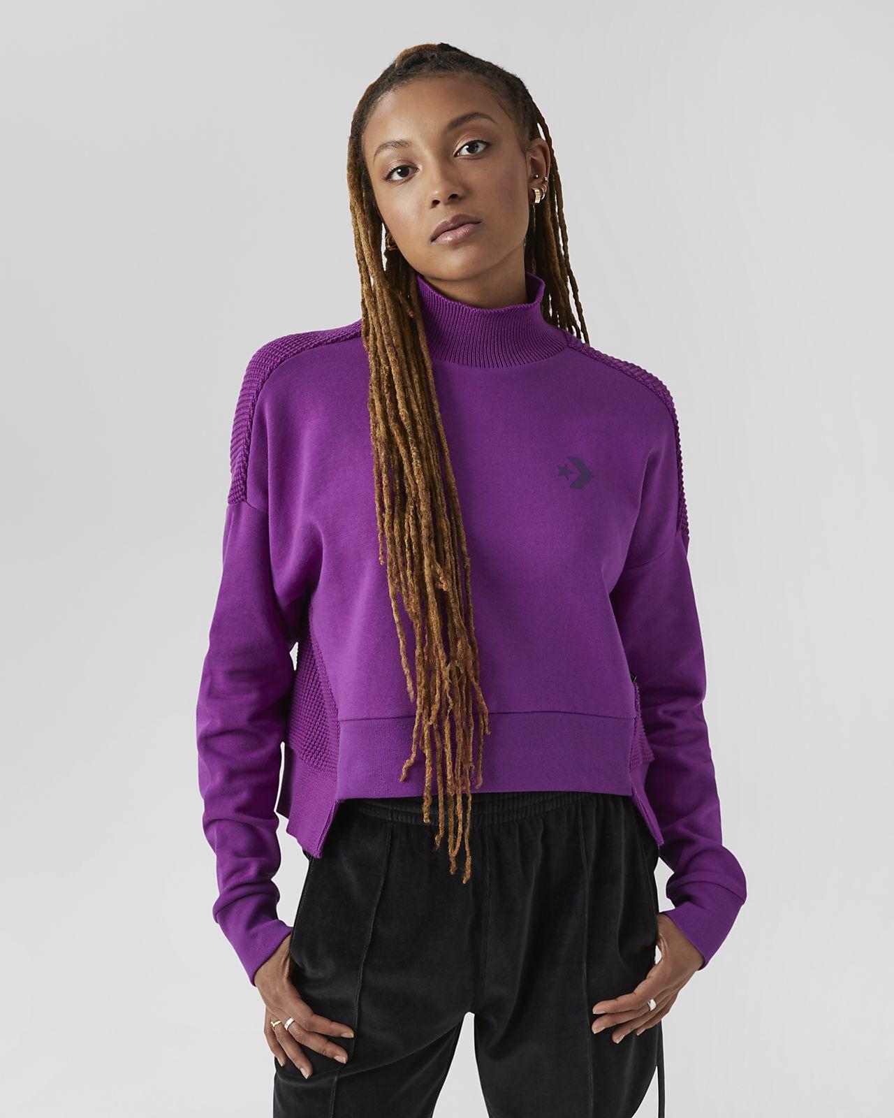 Converse Sweater  Women's Mock-Neck Knit Shirt