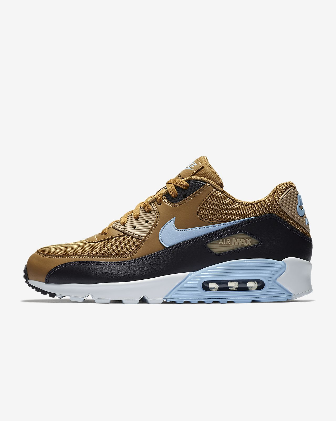 MEN'S NIKE AIR MAX 90 ESSENTIAL MEDIUM OLIVEMEDIUM OLIVE VELVET BROWN