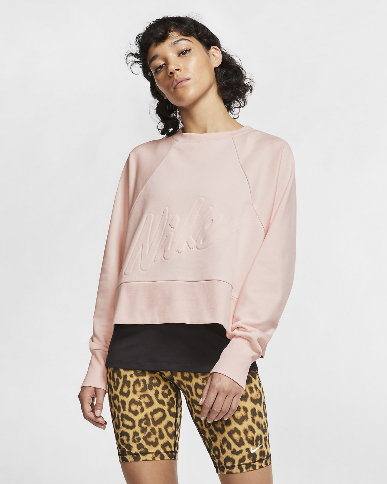 Nike Dri FIT Yellow Get Fit Fleece Crew Sweater