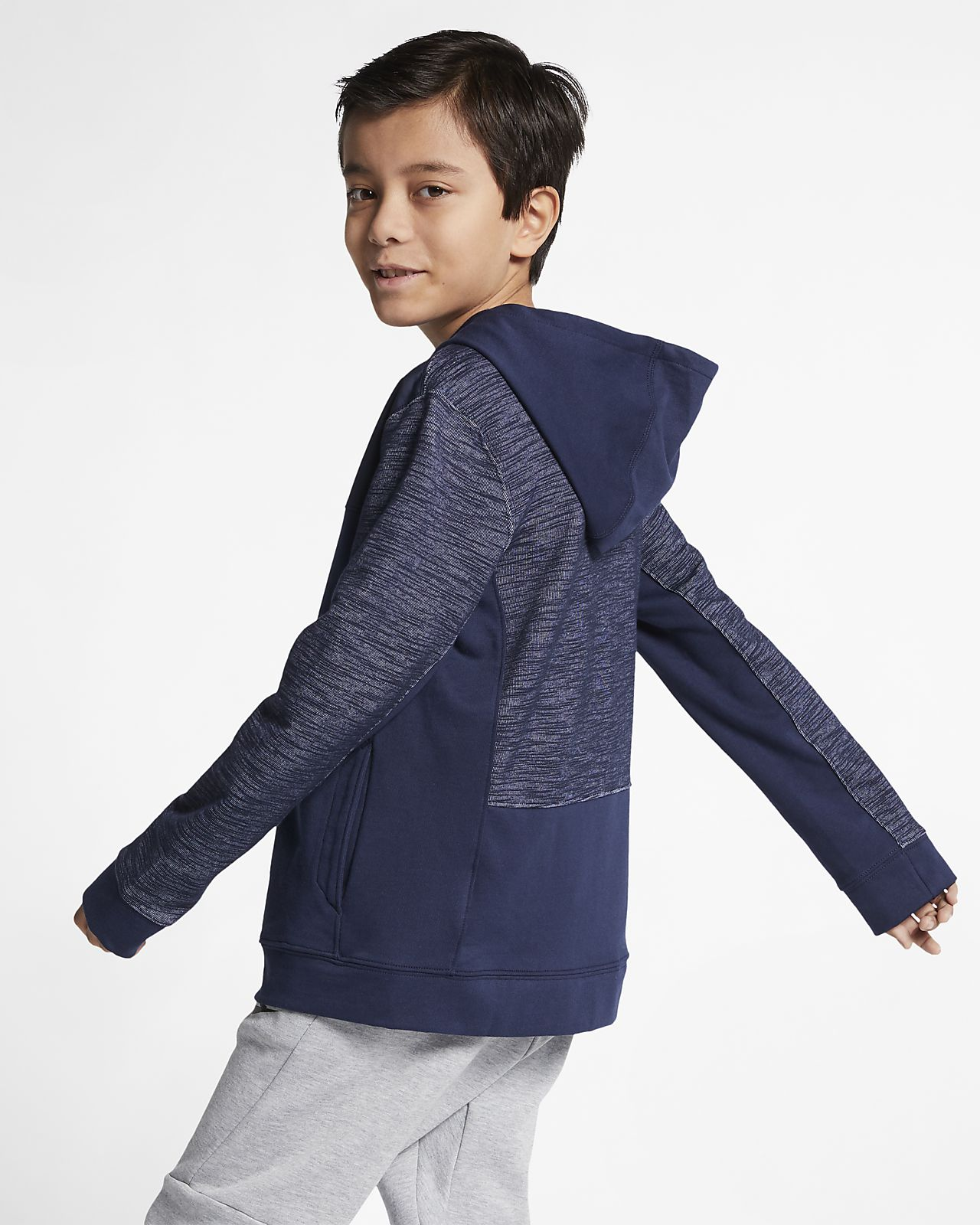 15 Capucha Cremallera Sportswear Con Nike Sudadera Completa Niño Advance 1KlcFJ