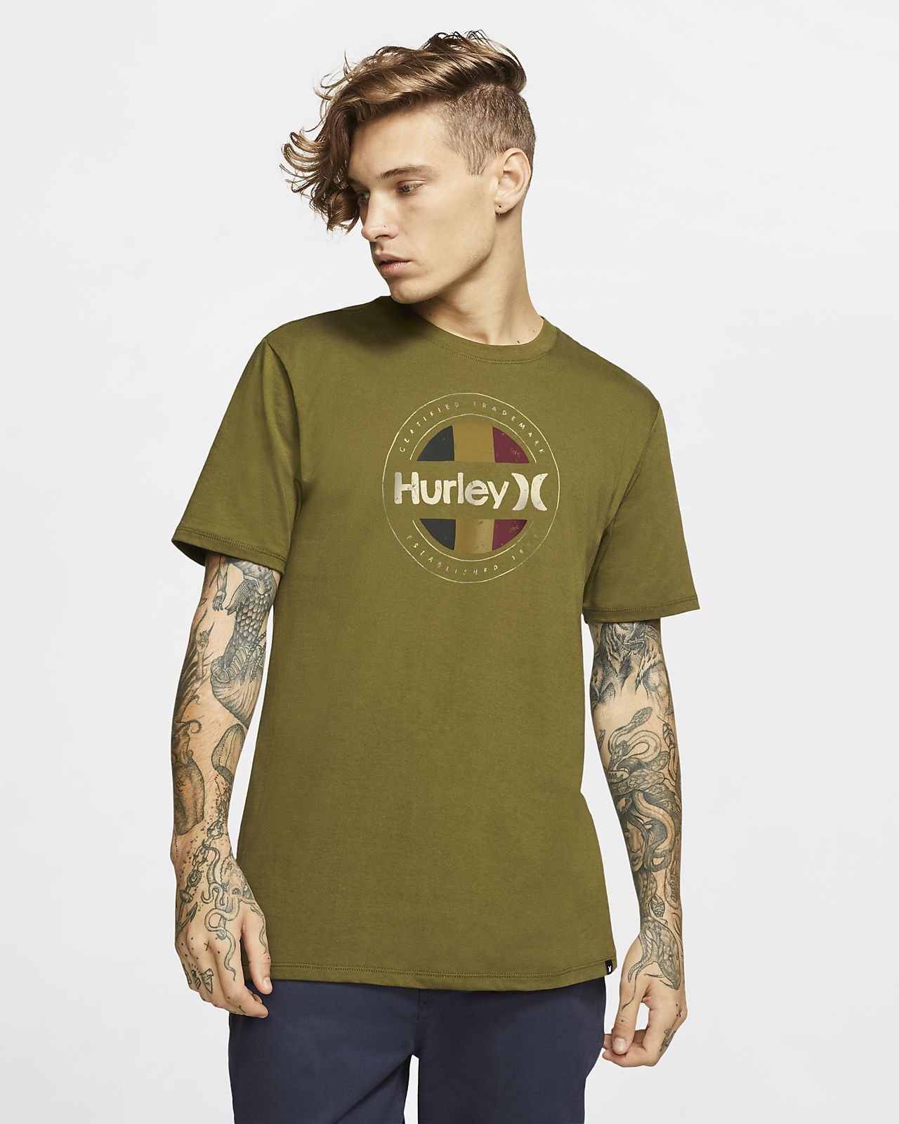 Tee-shirt coupe Premium Hurley Premium Resistance pour Homme