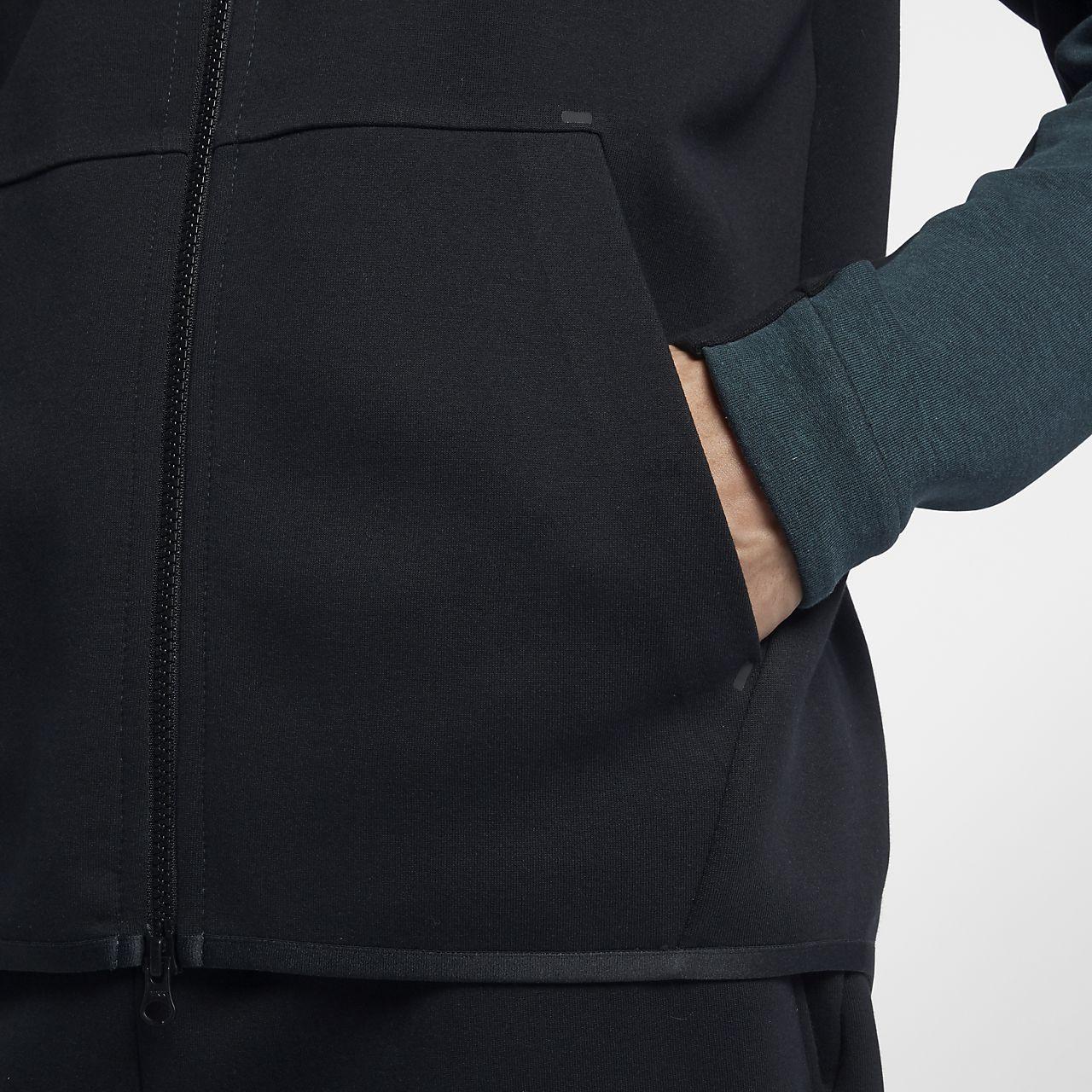 Nike AW77 Mens Fleece Full Zip Hoody Black Sportswear Mens Sportswear COLOUR-black