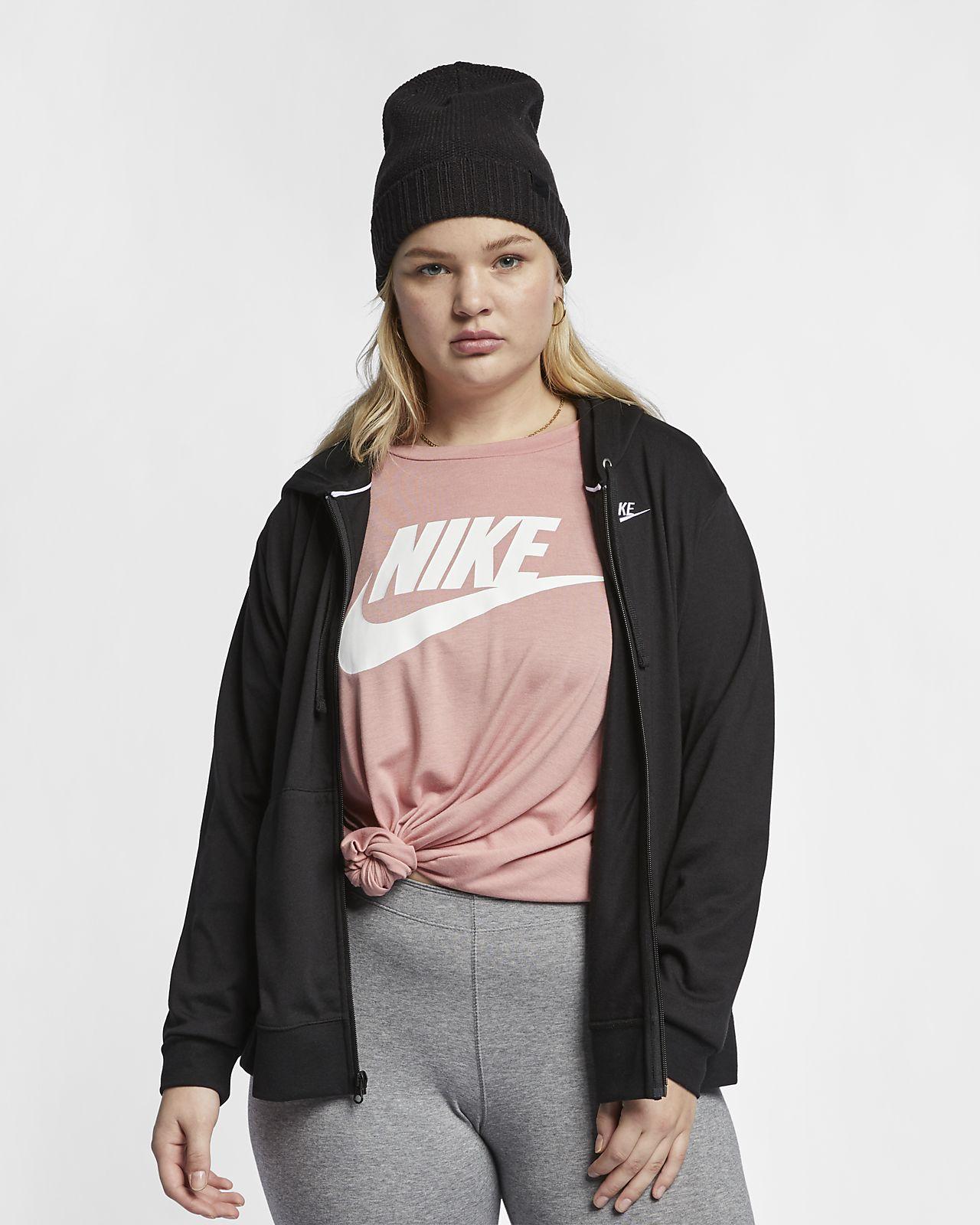 Damska bluza z kapturem i zamkiem na całej długości Nike Sportswear (duże rozmiary)