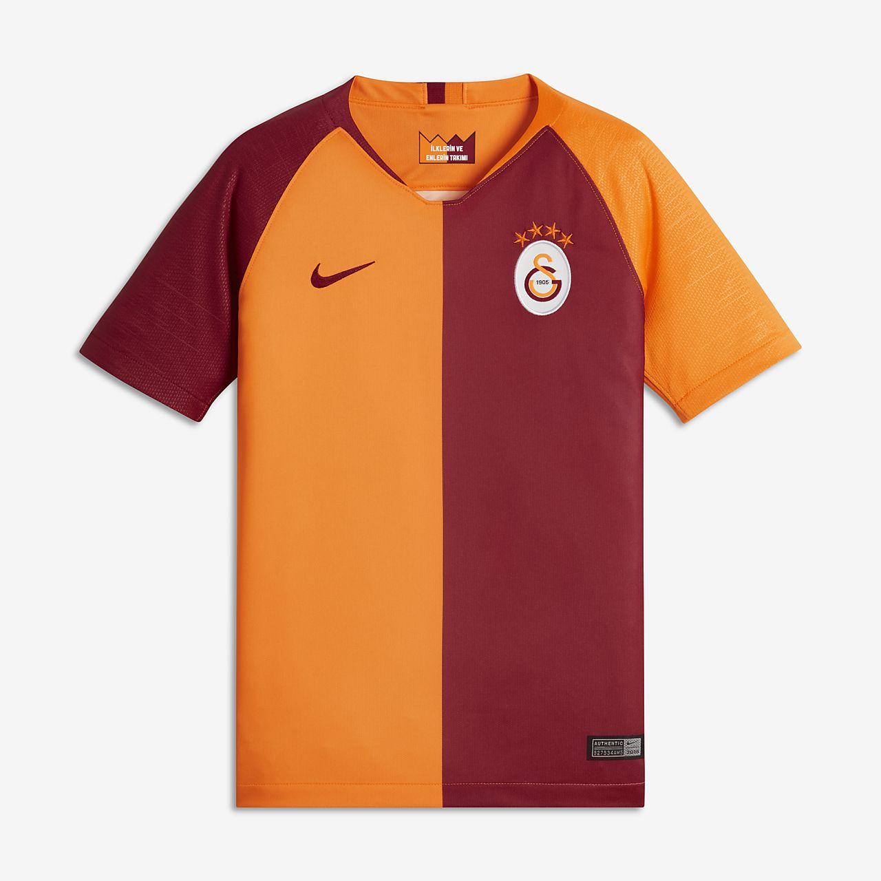 3fb107aa20e 2018 19 Galatasaray S.K. Stadium Home Older Kids  Football Shirt ...