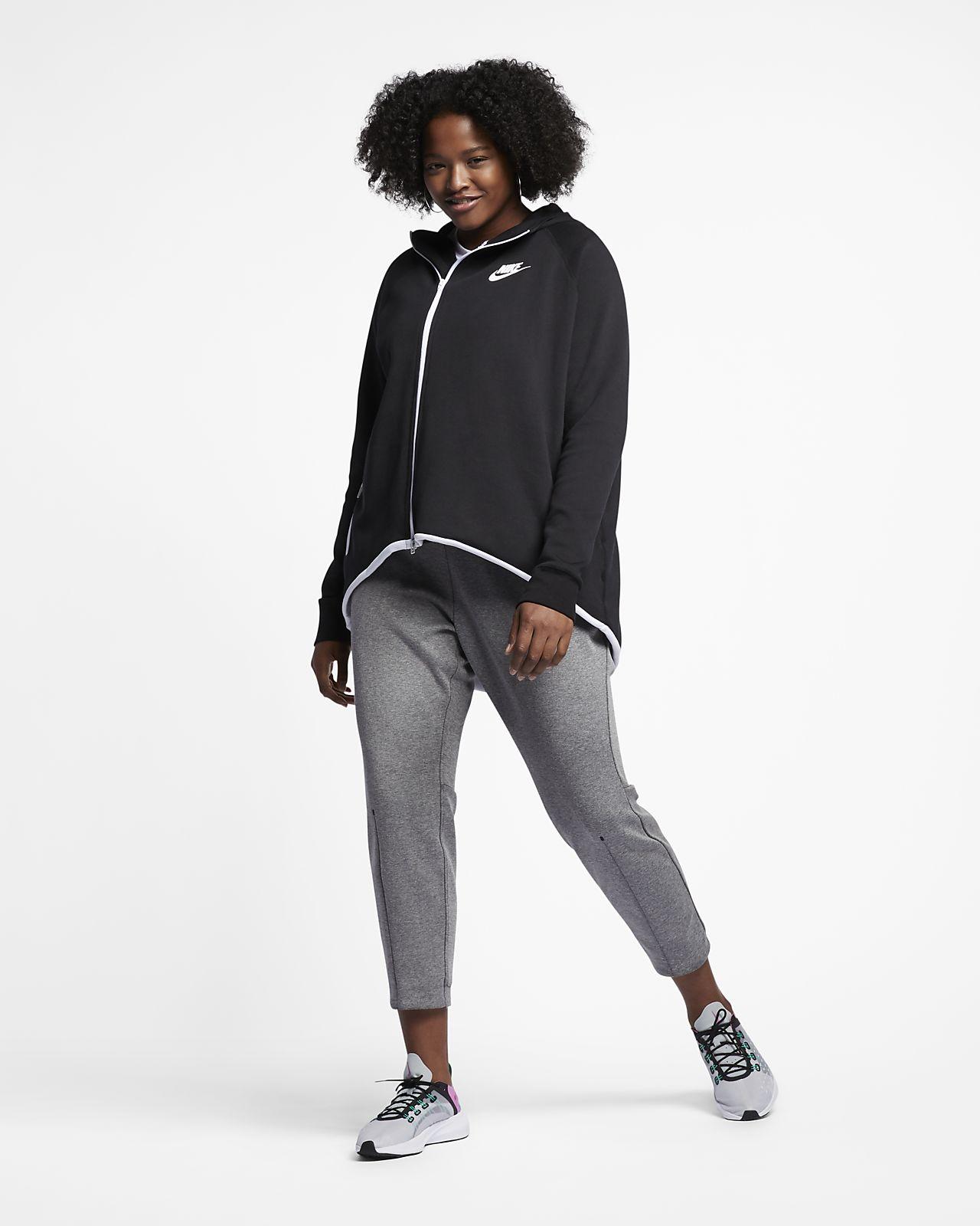 Cappa con zip a tutta lunghezza Nike Sportswear Tech Fleece Donna (Plus Size)