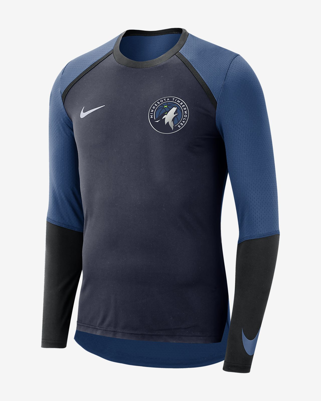 Minnesota Timberwolves Nike Dri-FIT Men's Long-Sleeve NBA Top