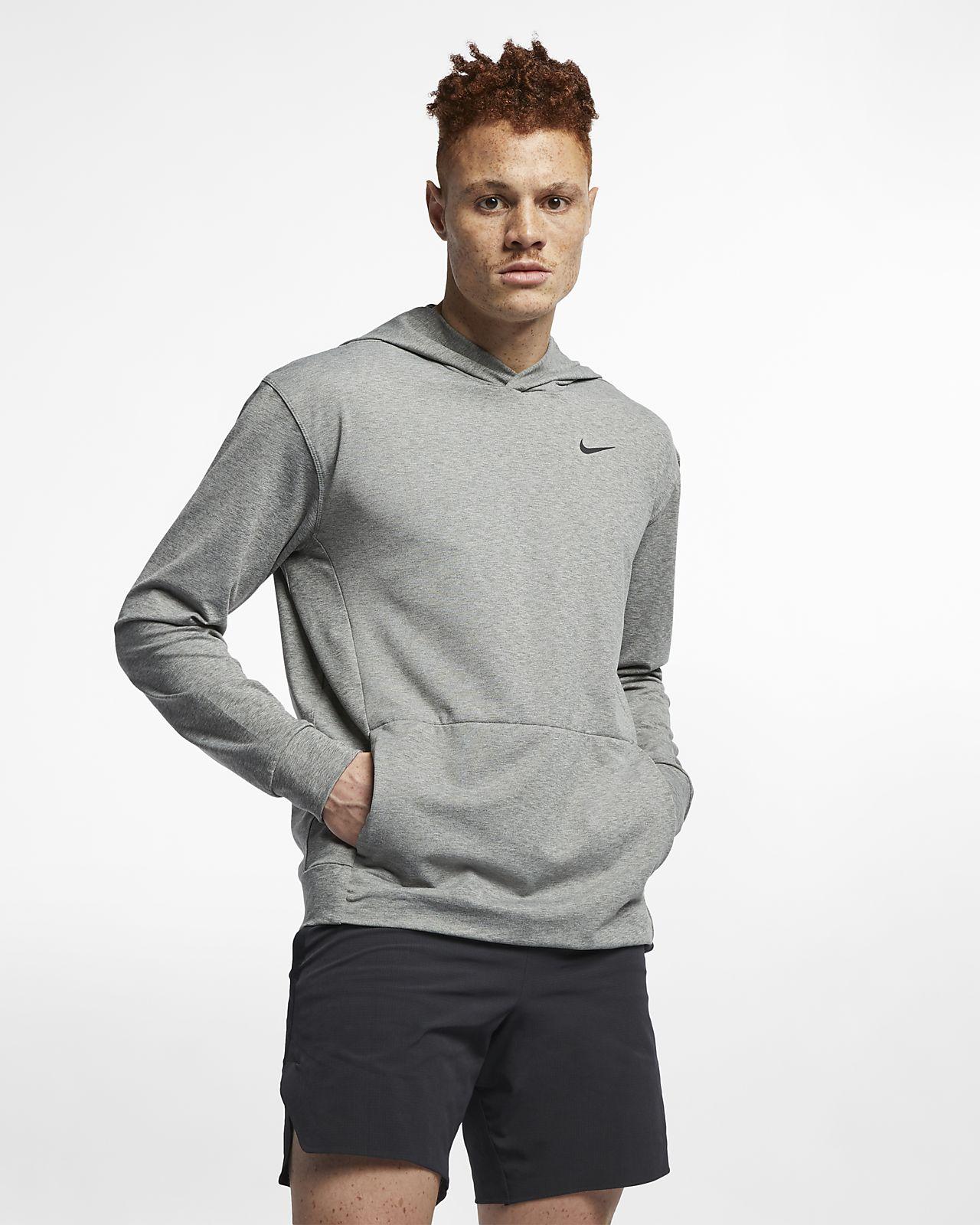 Langærmet Nike Dri-FIT-sweatshirt-yogatræningshættetrøje til mænd