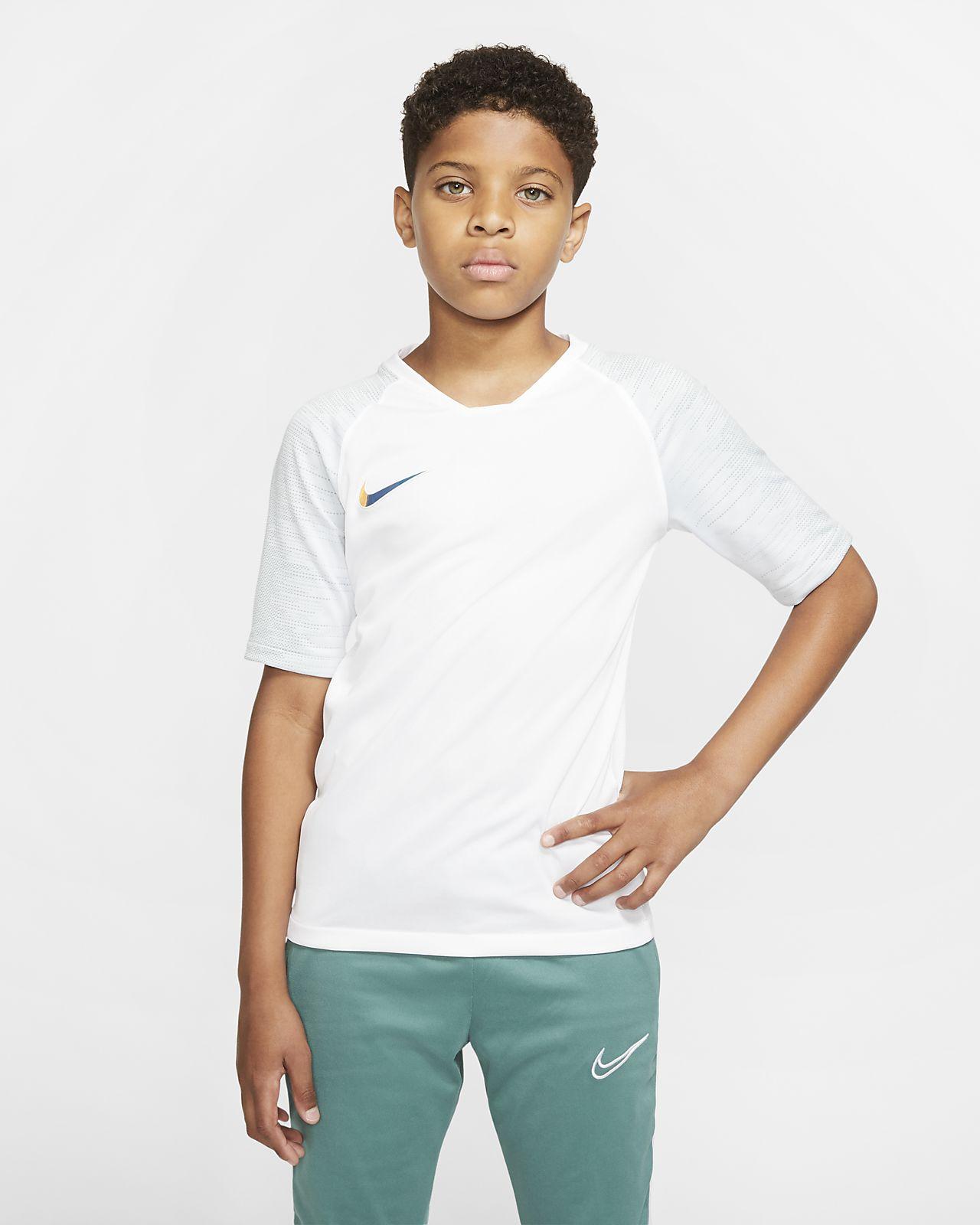 Prenda para la parte superior de fútbol de manga corta para niños talla grande Nike Breathe Strike