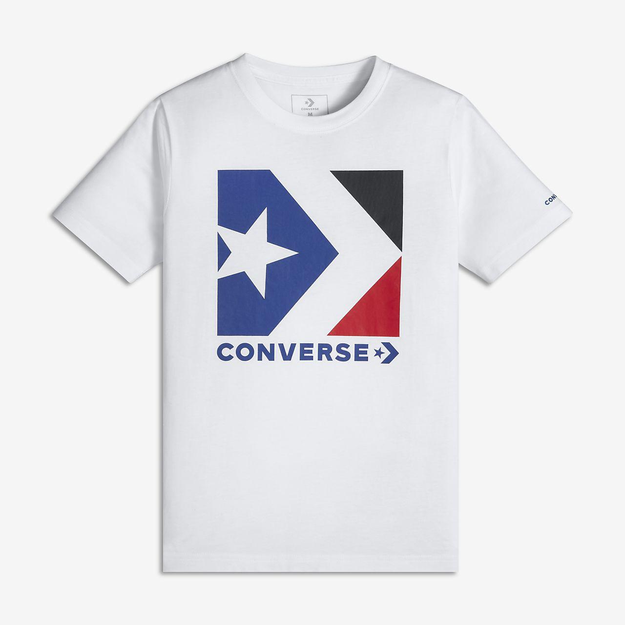 Converse Star Chevron Box Big Kids' (Boys') Graphic T-Shirt