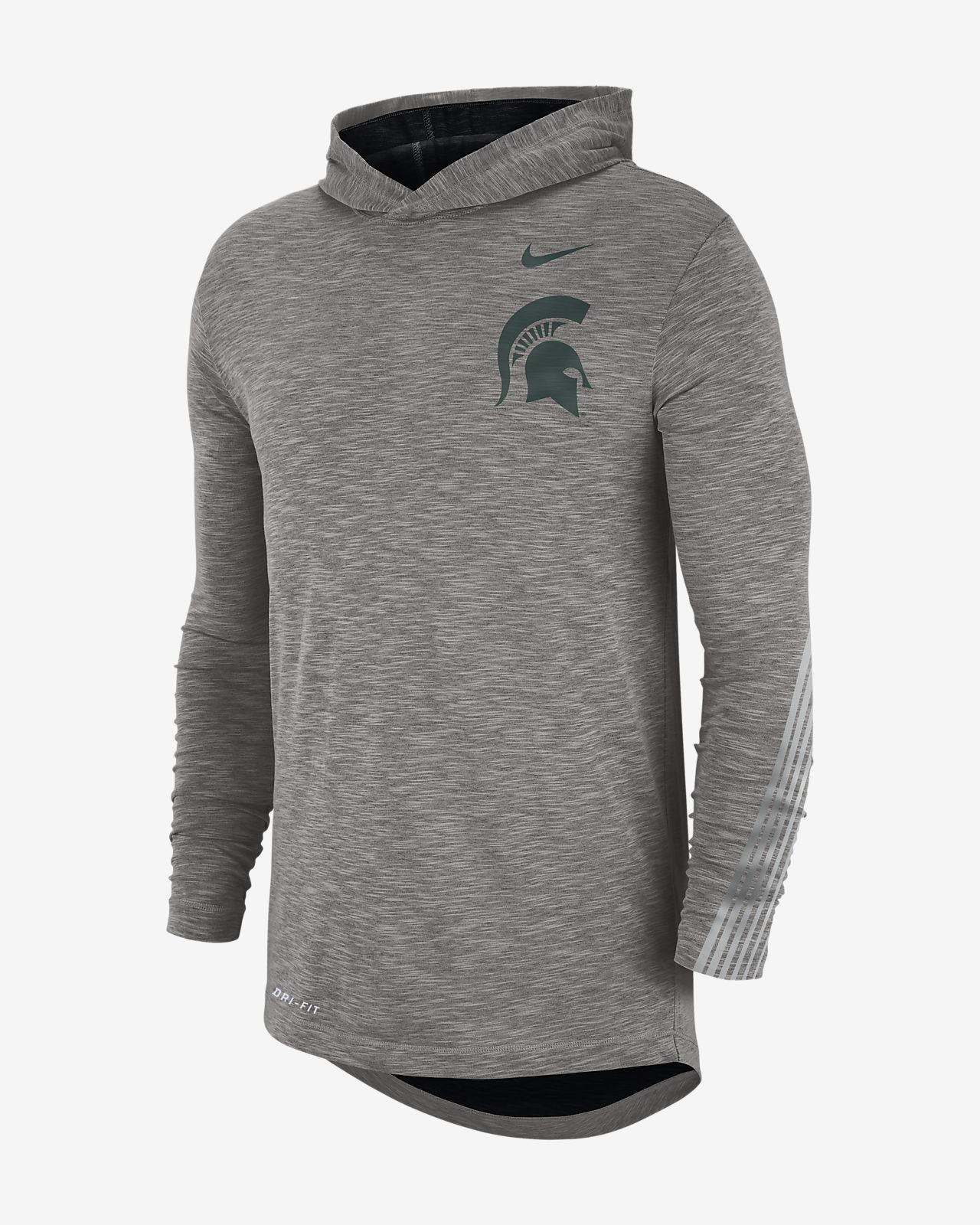 Nike College (Michigan State) Men's Long-Sleeve Hooded T-Shirt