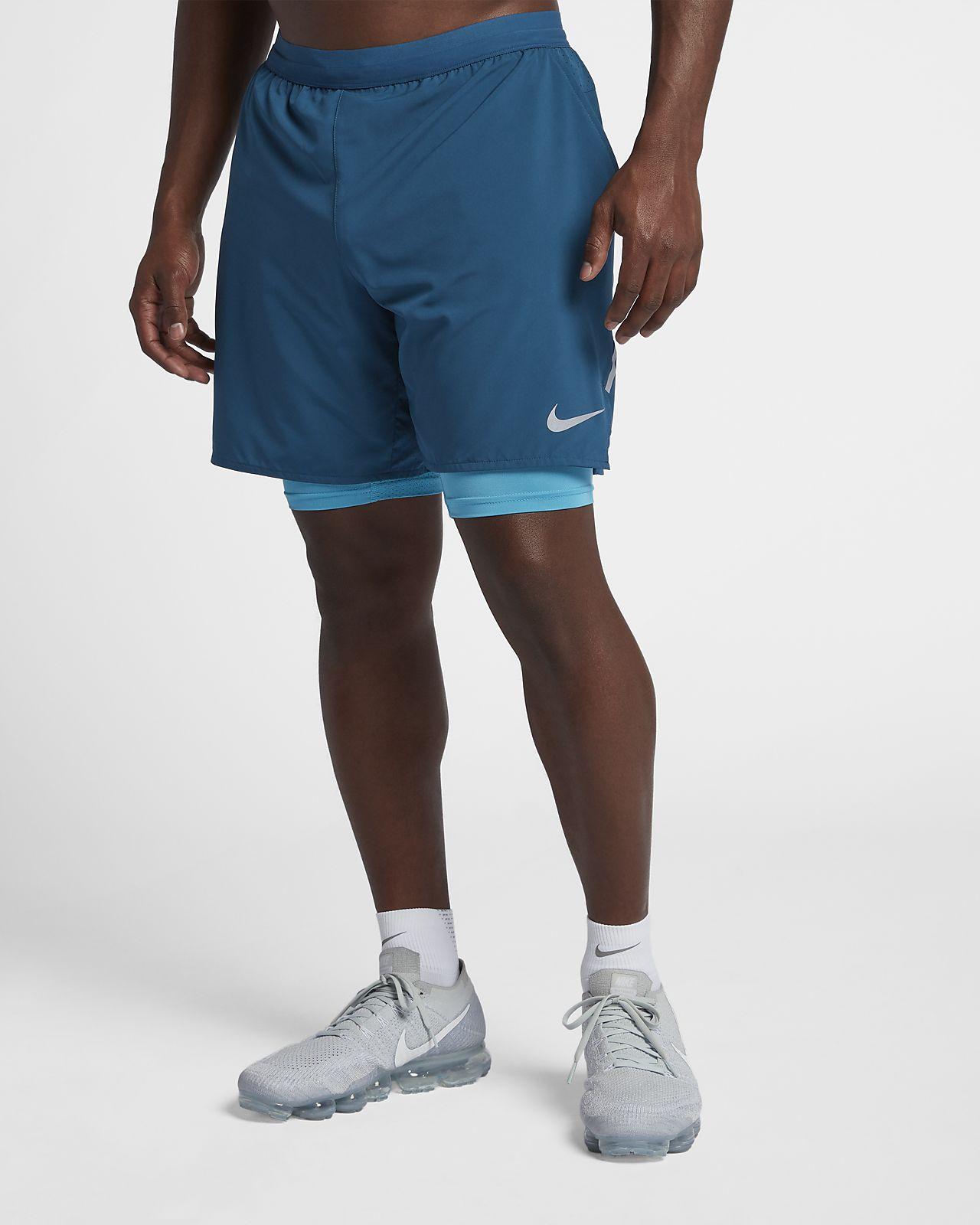pas cher professionnel exclusif Nike Distance De 2-en-1 Mens 7 Short De Course énorme surprise meilleur fournisseur l1jy7