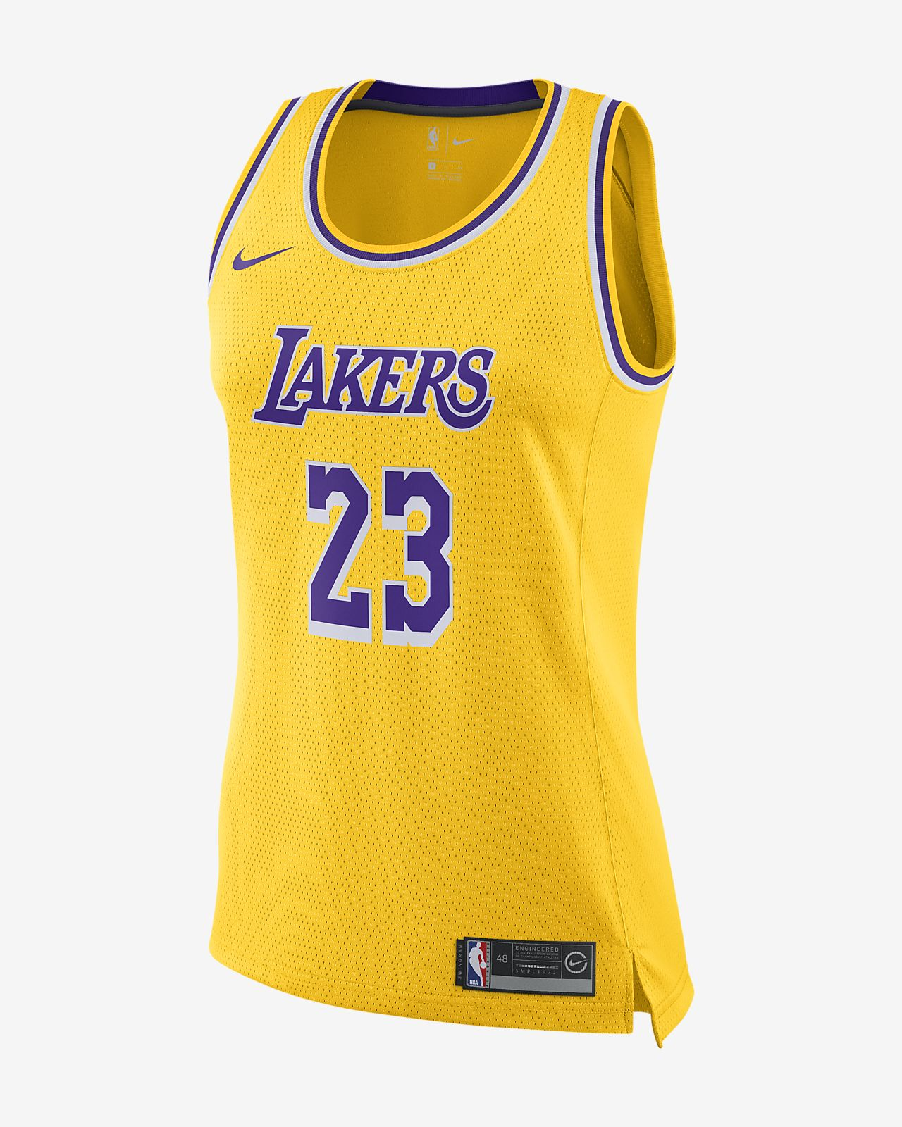 LeBron James Icon Edition Swingman (Los Angeles Lakers) 女款 Nike NBA Connected Jersey