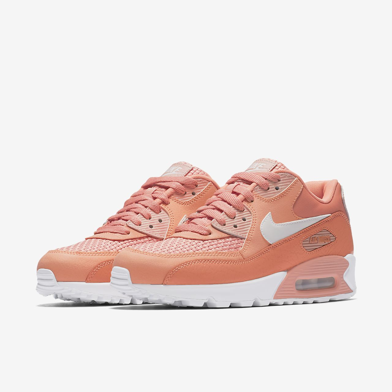 nike air max 90 coral and white