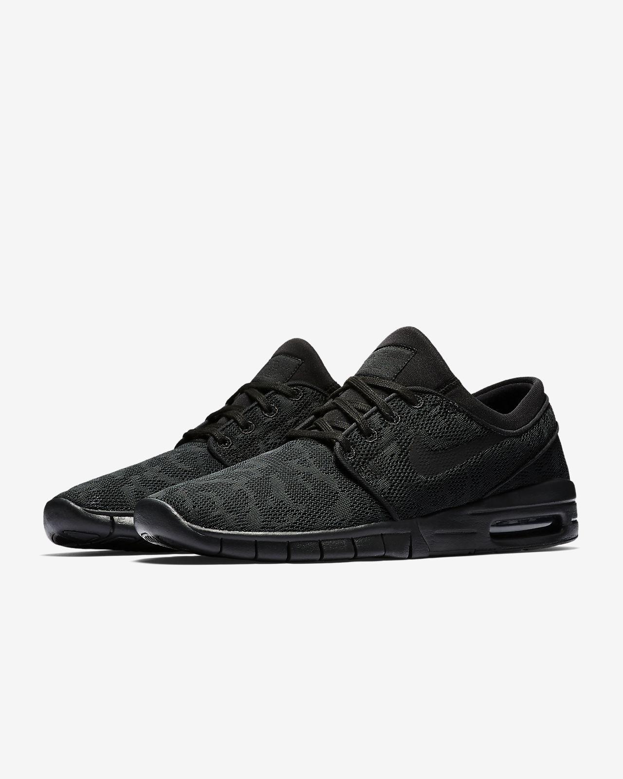 Nike SB Janoski Air Max Black & Camo Mesh Skate Shoes