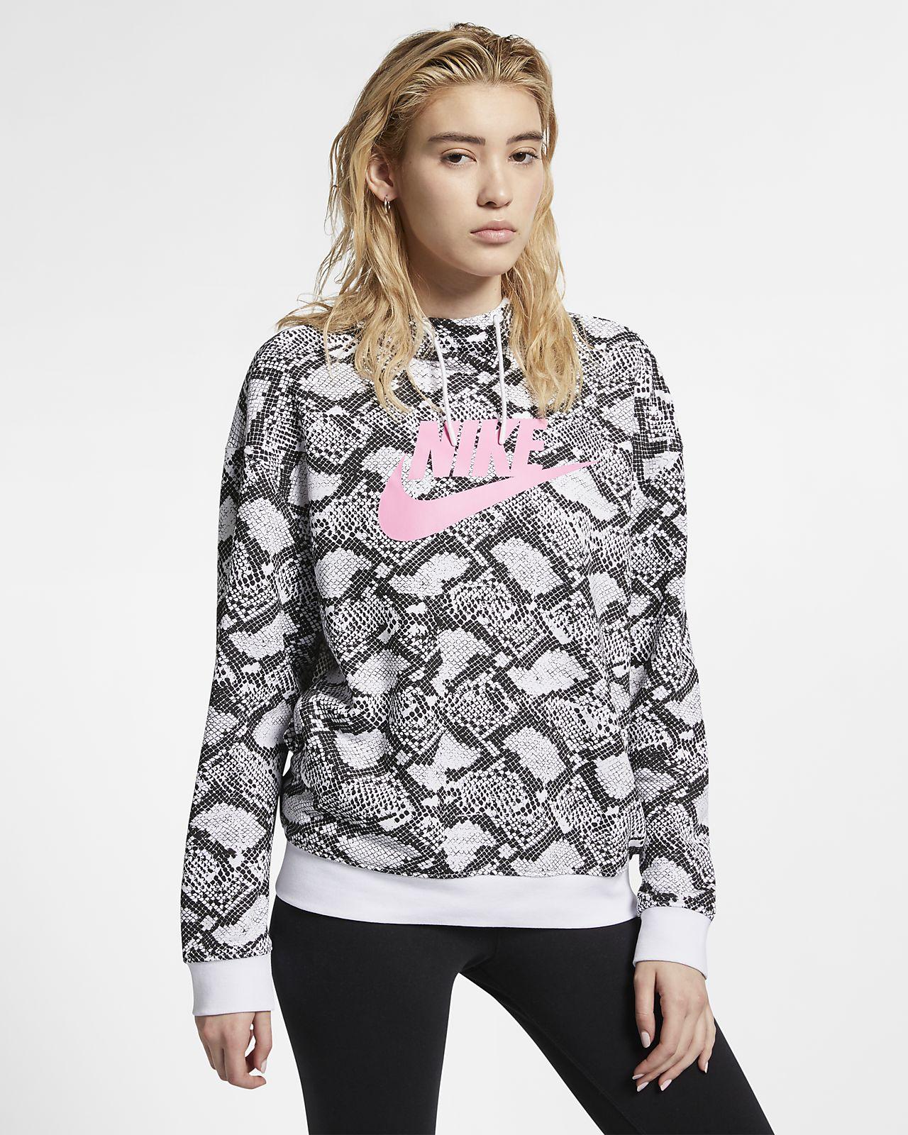 Sudadera con capucha de estampado animal para mujer Nike Sportswear