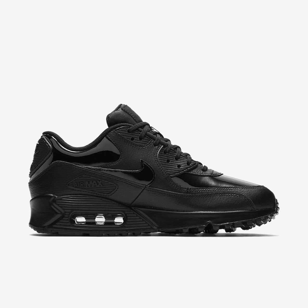 NIKE Air Max 90 LEATHER WOMEN Scarpe Donna Sneaker Classic Black 921304002