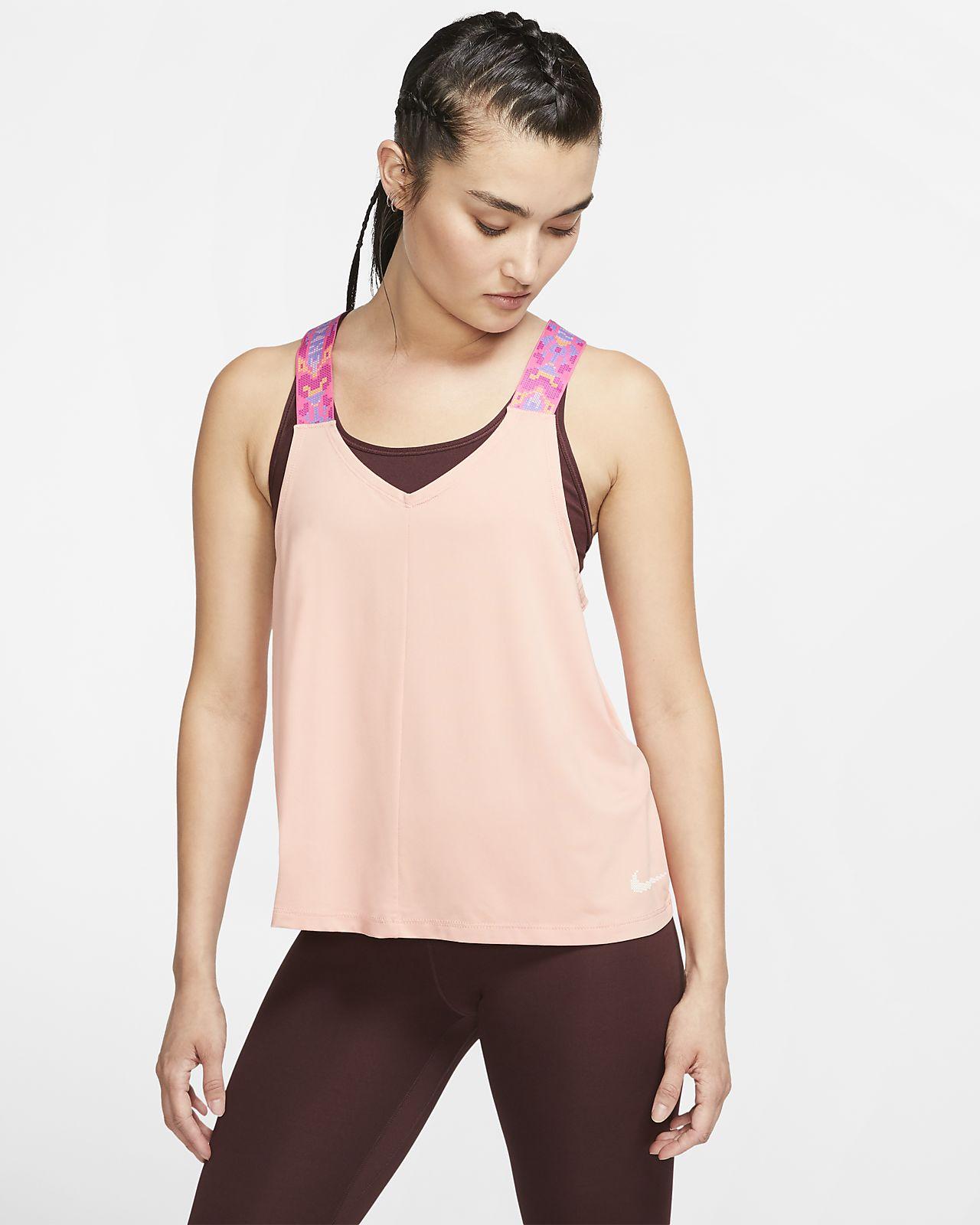 Damska koszulka treningowa bez rękawów Nike Elastika