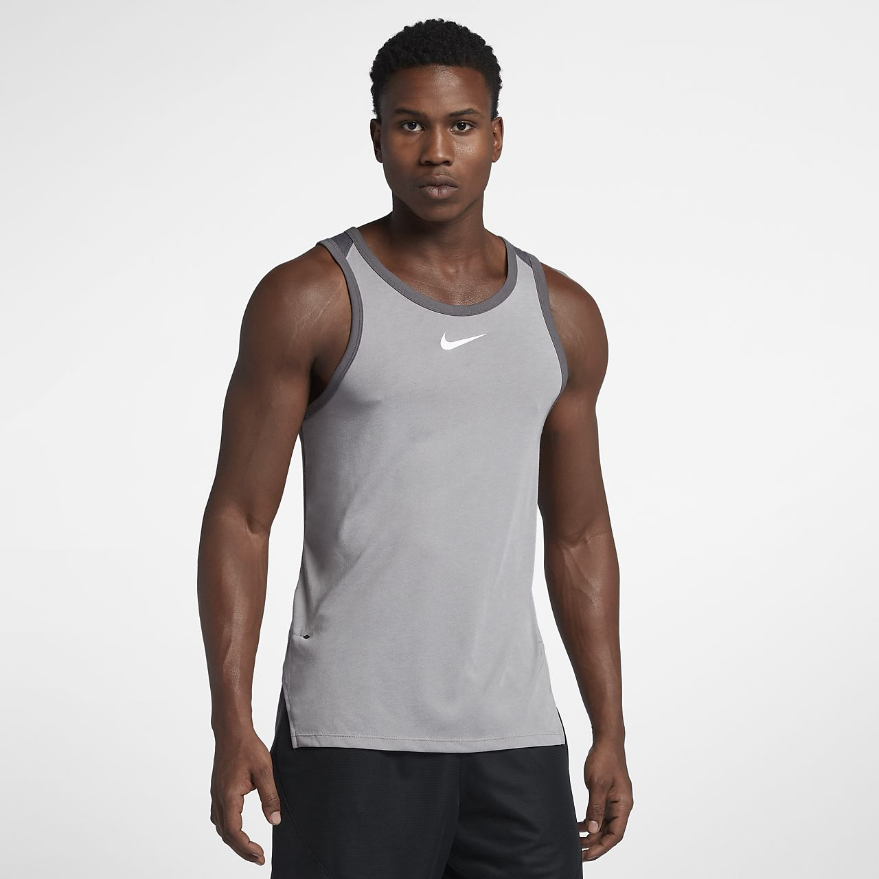 Ανδρική αμάνικη μπλούζα μπάσκετ Nike Breathe Elite