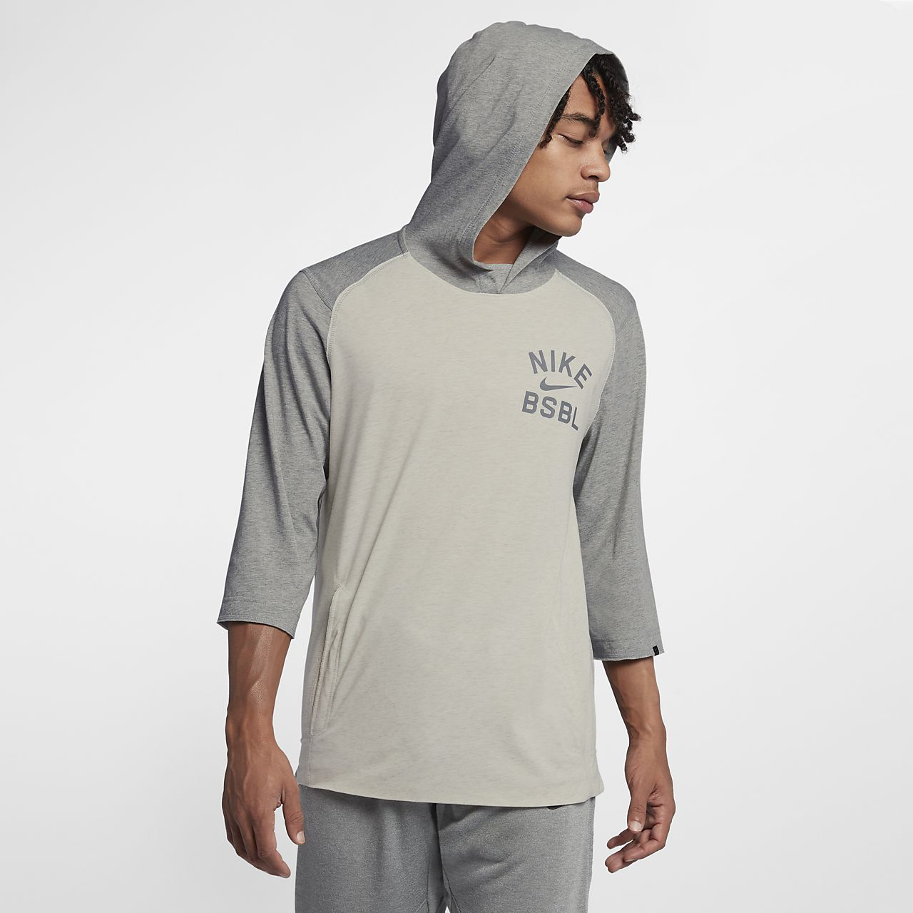32033a5ff3b Nike Flux Hooded Men s 3 4 Sleeve Baseball Top. Nike.com