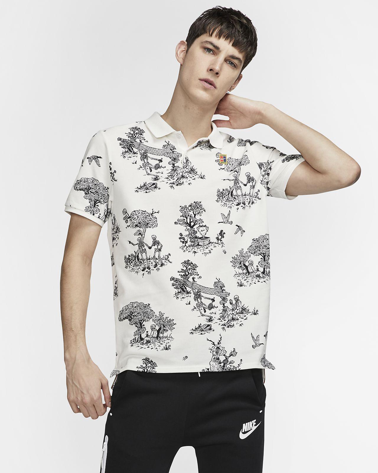 Ανδρική μπλούζα πόλο για τένις NikeCourt