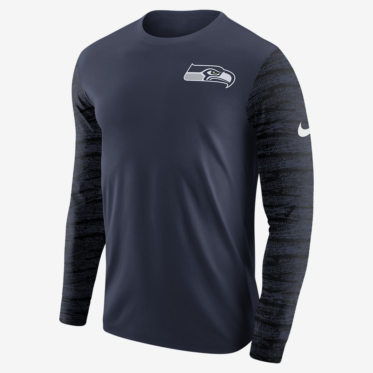 ... Tee-shirt à manches longues Nike Enzyme Pattern (NFL Seahawks) pour  Homme