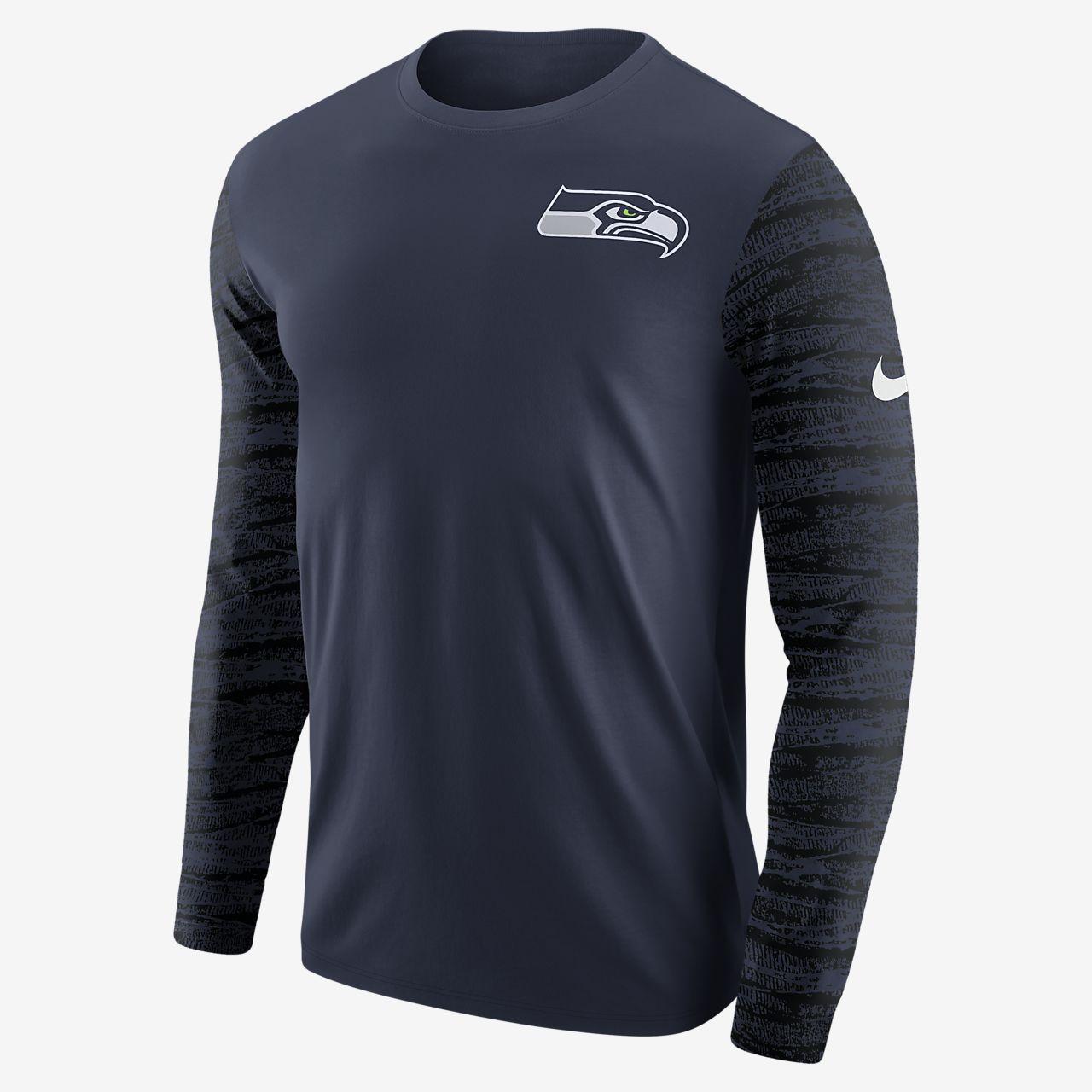 Enzyme Tee Longues Seahawks Pour Pattern Nike Shirt À nfl Manches qfqnwURF
