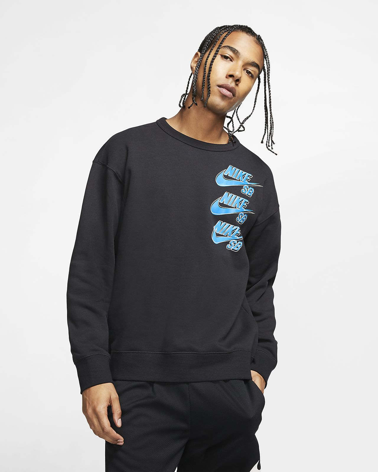 Мужская флисовая футболка для скейтбординга Nike SB Icon