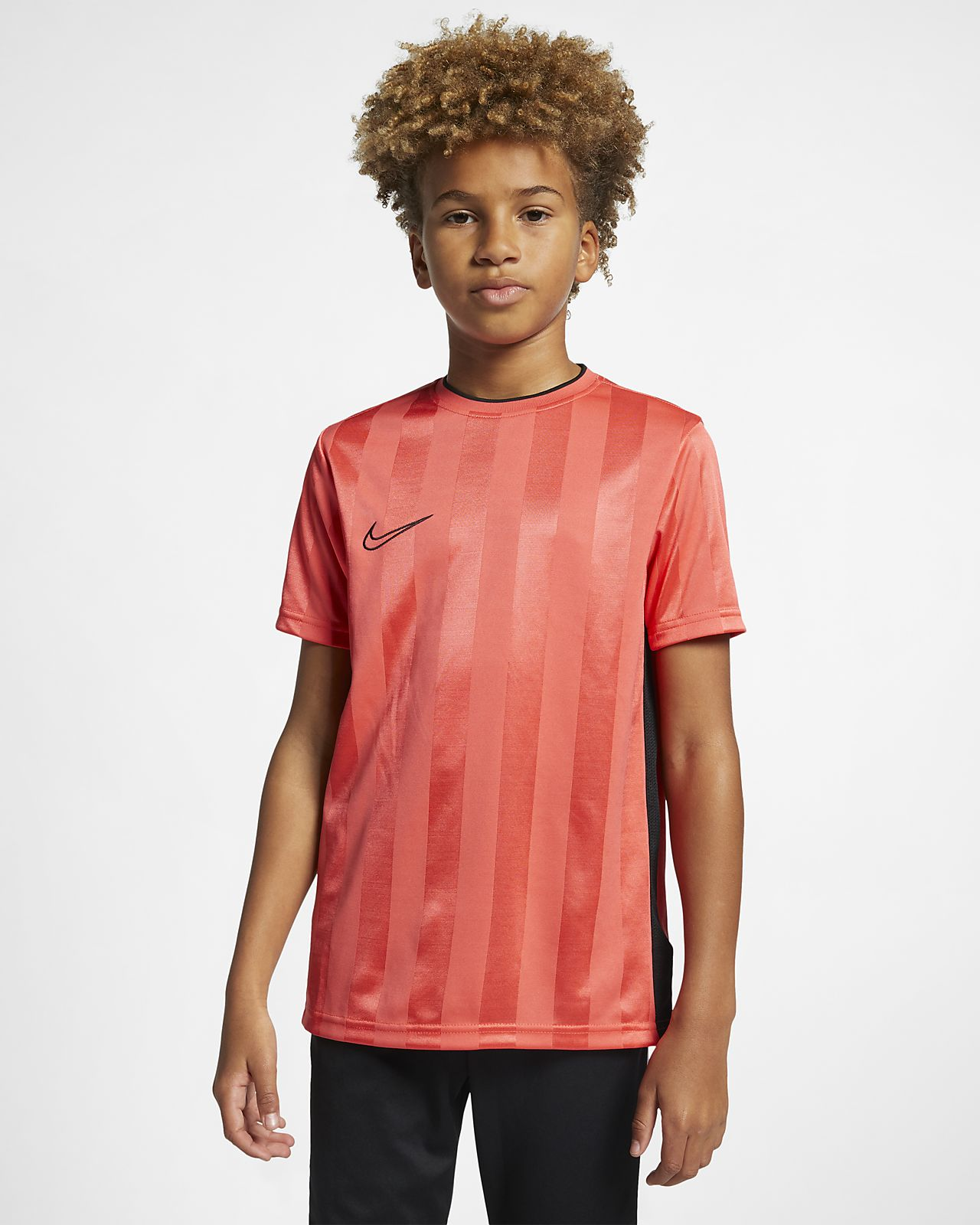 Κοντομάνικη ποδοσφαιρική μπλούζα Nike Breathe Academy για μεγάλα παιδιά